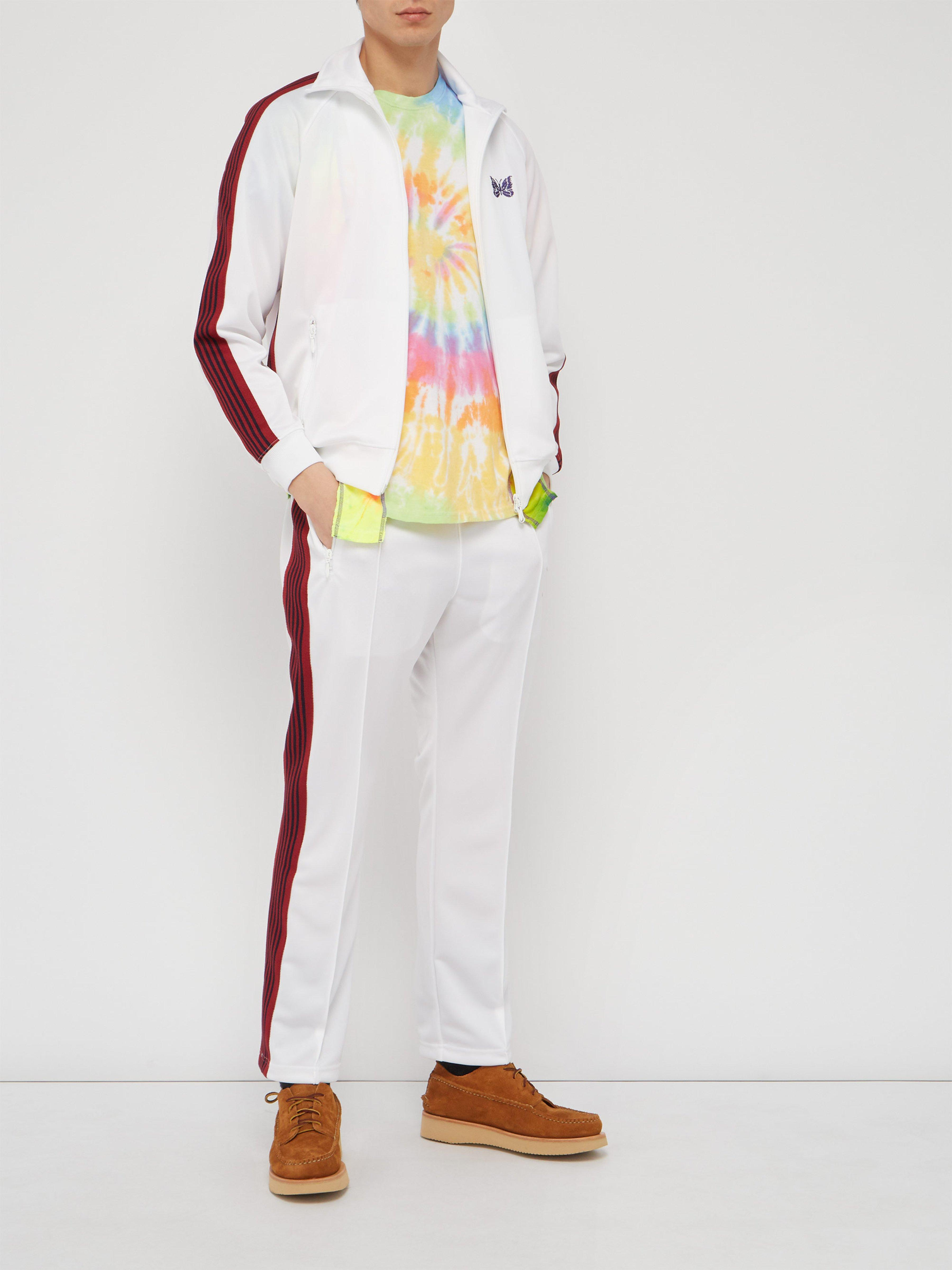 efeb5051 Needles Logo Embroidered Technical Jersey Track Pants in White for Men -  Lyst