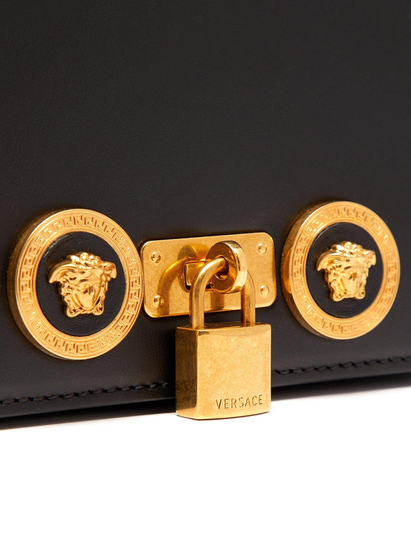 Versace - Black Medusa Plaque Leather Belt Bag for Men - Lyst. View  fullscreen 3690fa9e2aa24