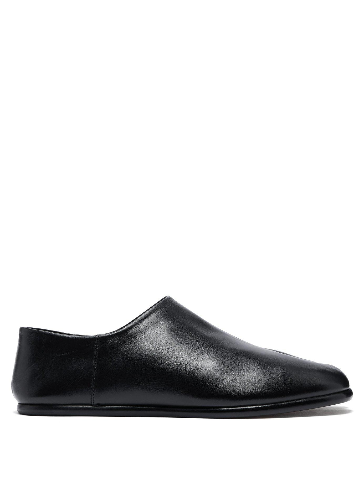 dc936c20908 Lyst - Maison Margiela Tabi Split Toe Leather Flats in Black for Men