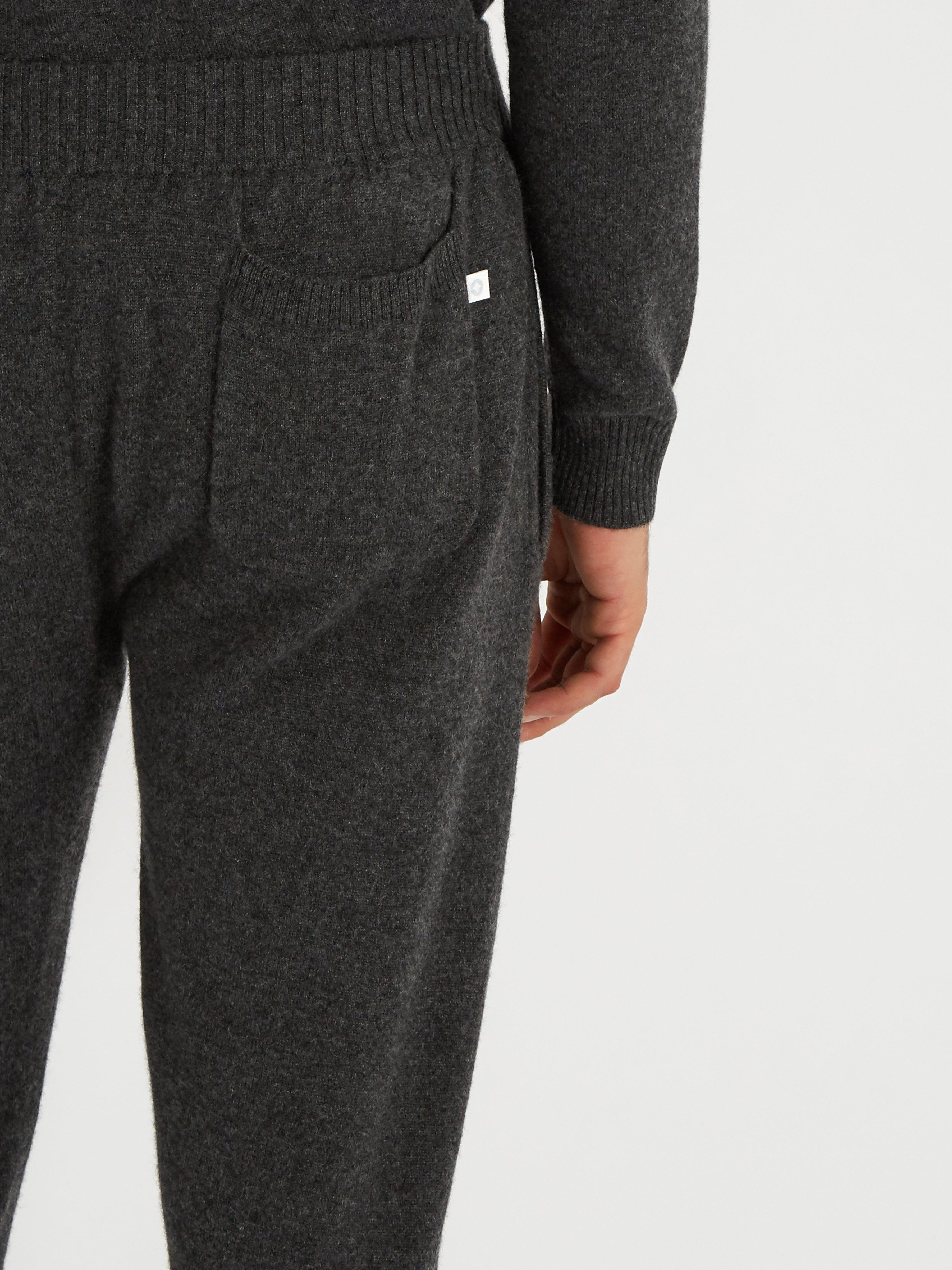 Derek Rose Finley Drawstring-waist Cashmere Trousers in Black for Men