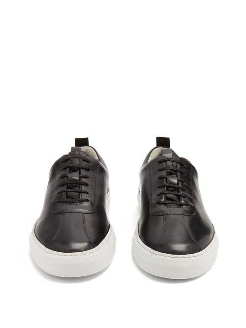 Grenson Leather Low-top Trainers in Black for Men