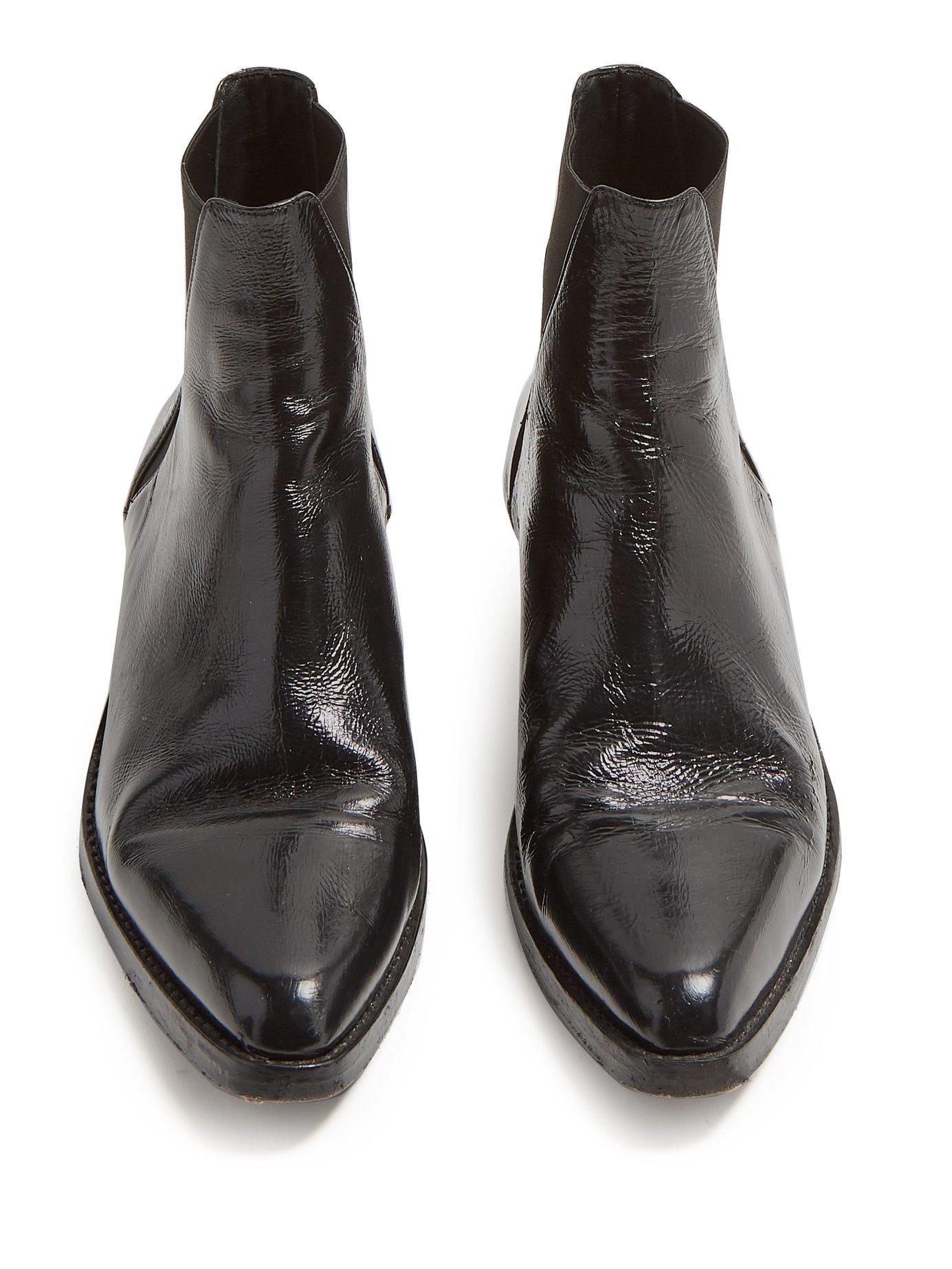 4d86a8f7a00 Saint Laurent Black Dakota Leather Chelsea Boots for men