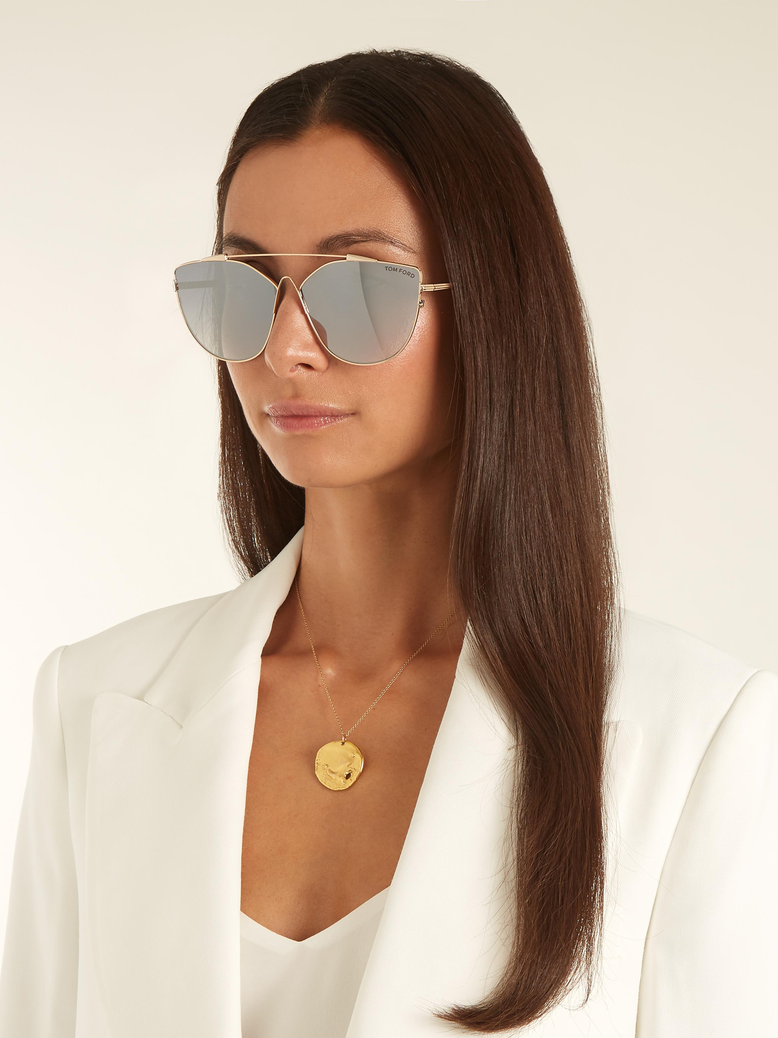 Tom Ford Jacquelyn Cat Eye Sunglasses In Gray Lyst