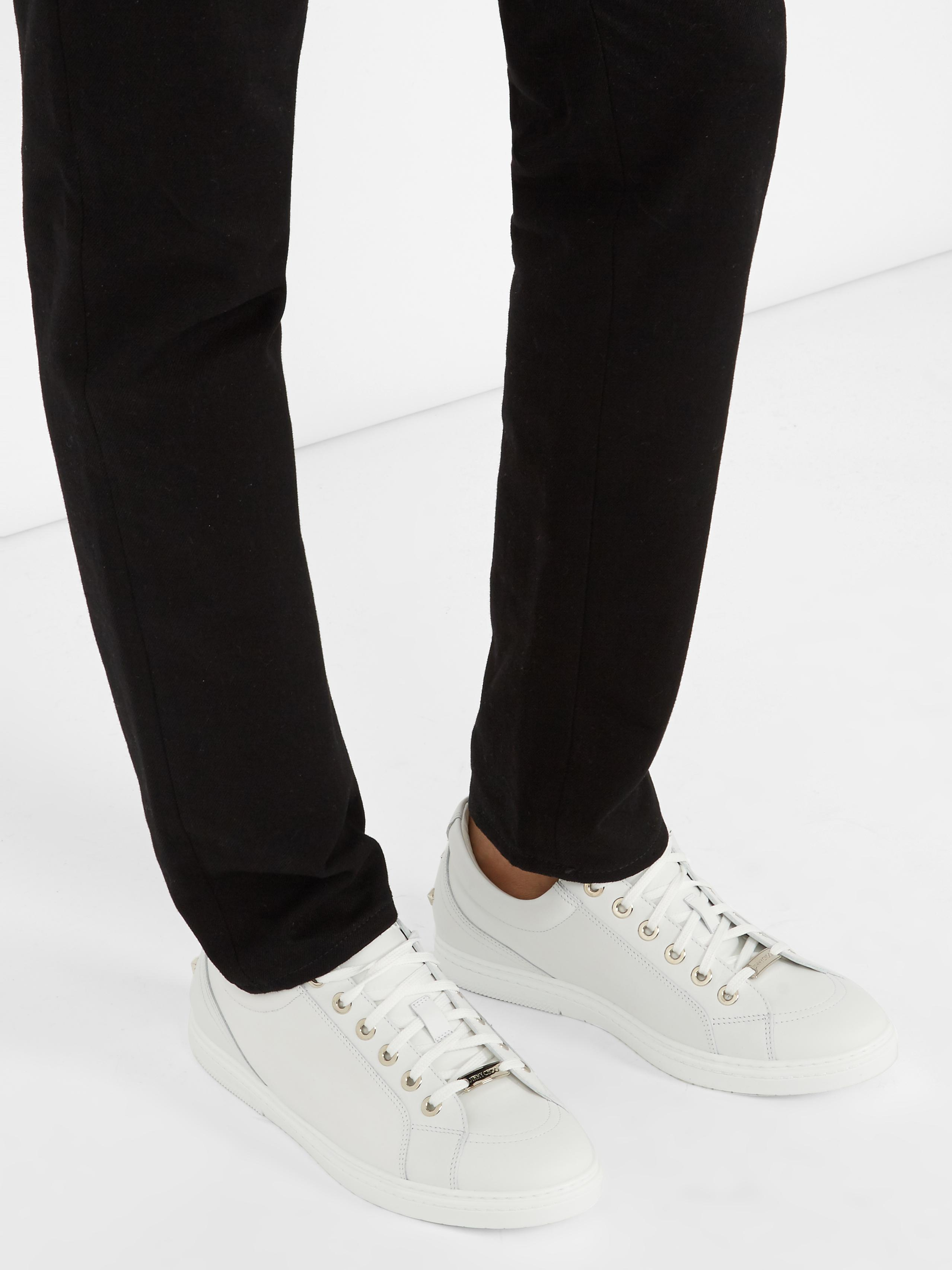 Jimmy Choo Cash Low-top Leather