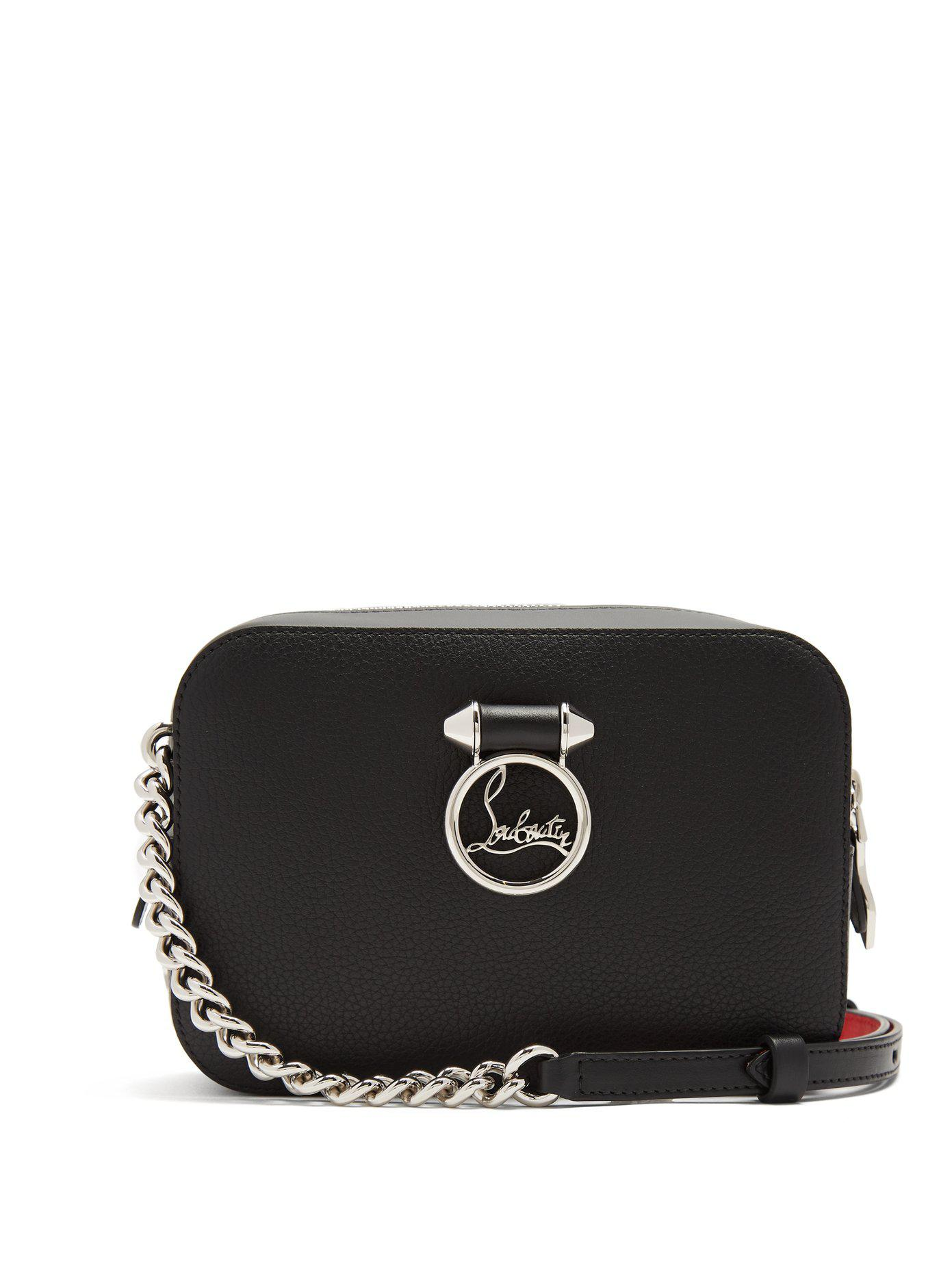 8da15314ed7 Christian Louboutin Ruby Lou Leather Cross-body Bag in Black - Lyst
