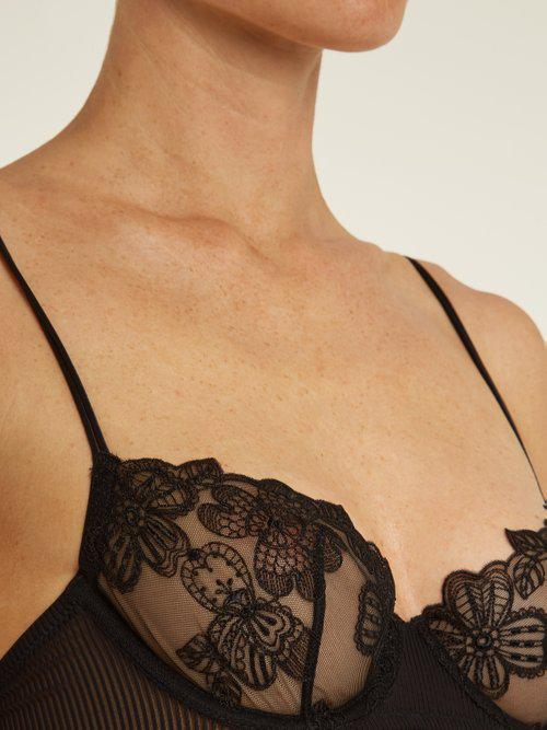 5411202d19 Lyst - La Perla English Rose Floral-embroidered Balconette Bra in Black