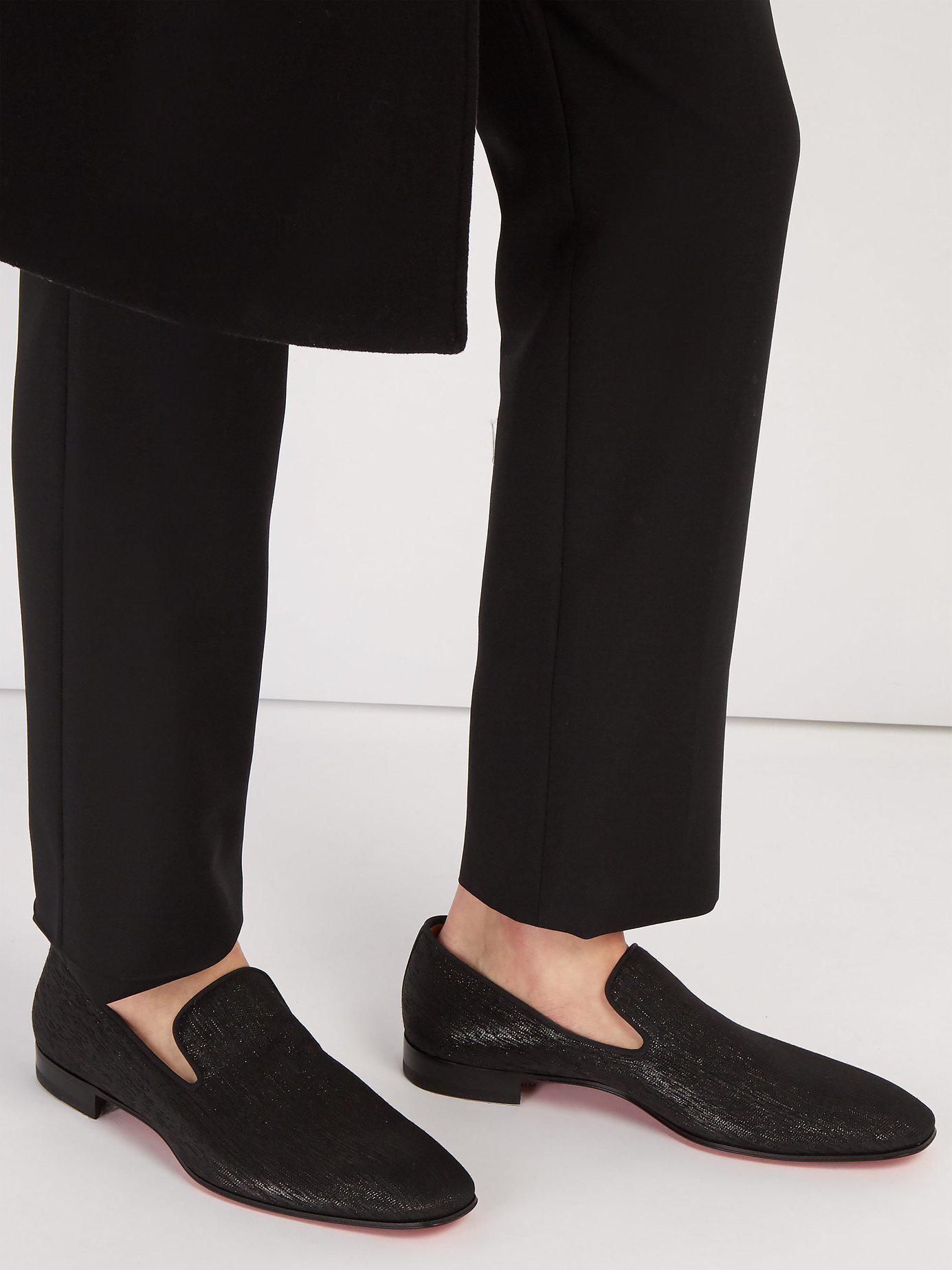 024545b1ea5 Men's Black Dandelion Metallic Shantung Loafers