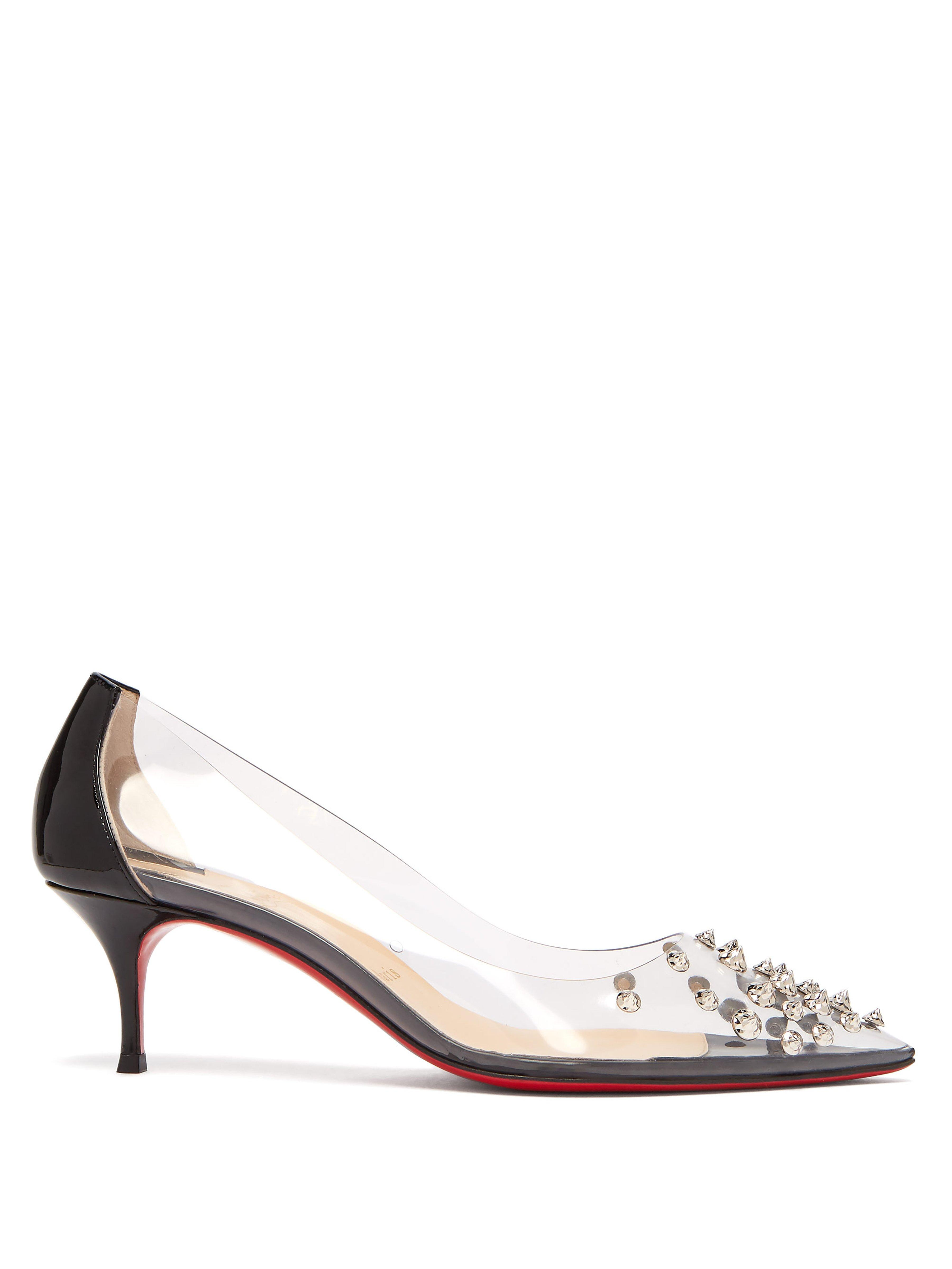 829fdcceb00 Christian Louboutin Black Collaclou 55 Spiked Pvc And Patent-leather Pumps