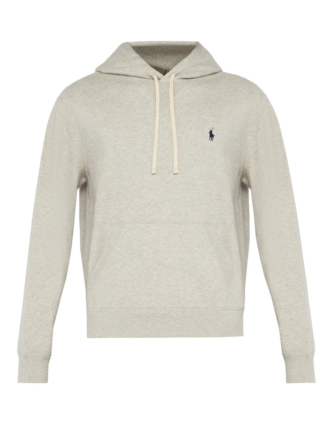 56cbbf50b Polo Ralph Lauren. Men's Gray Hooded Logo Embroidered Cotton Sweatshirt