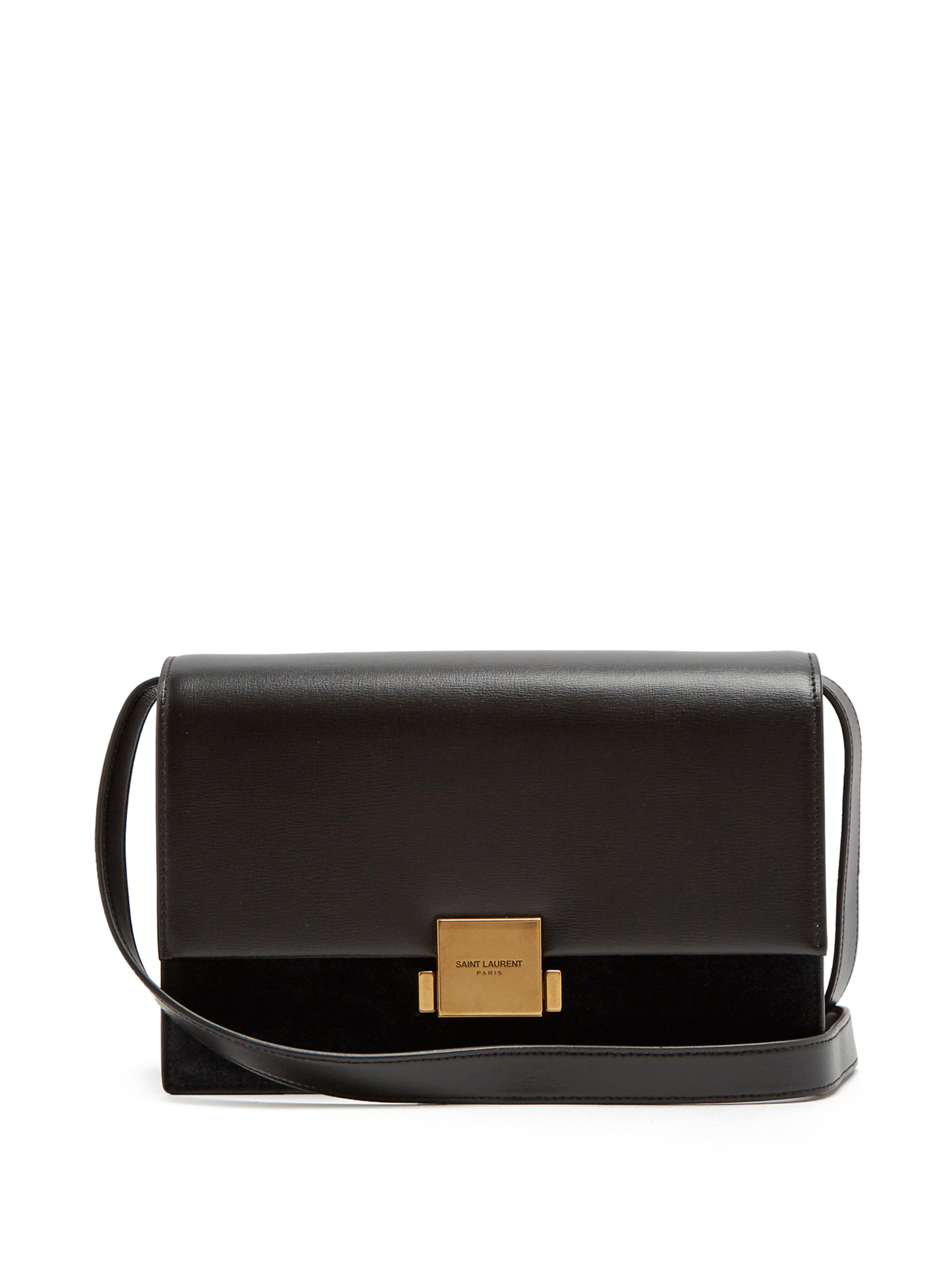 0ca230c12cac Saint Laurent. Women s Black Bellechasse Medium Leather And Suede Bag