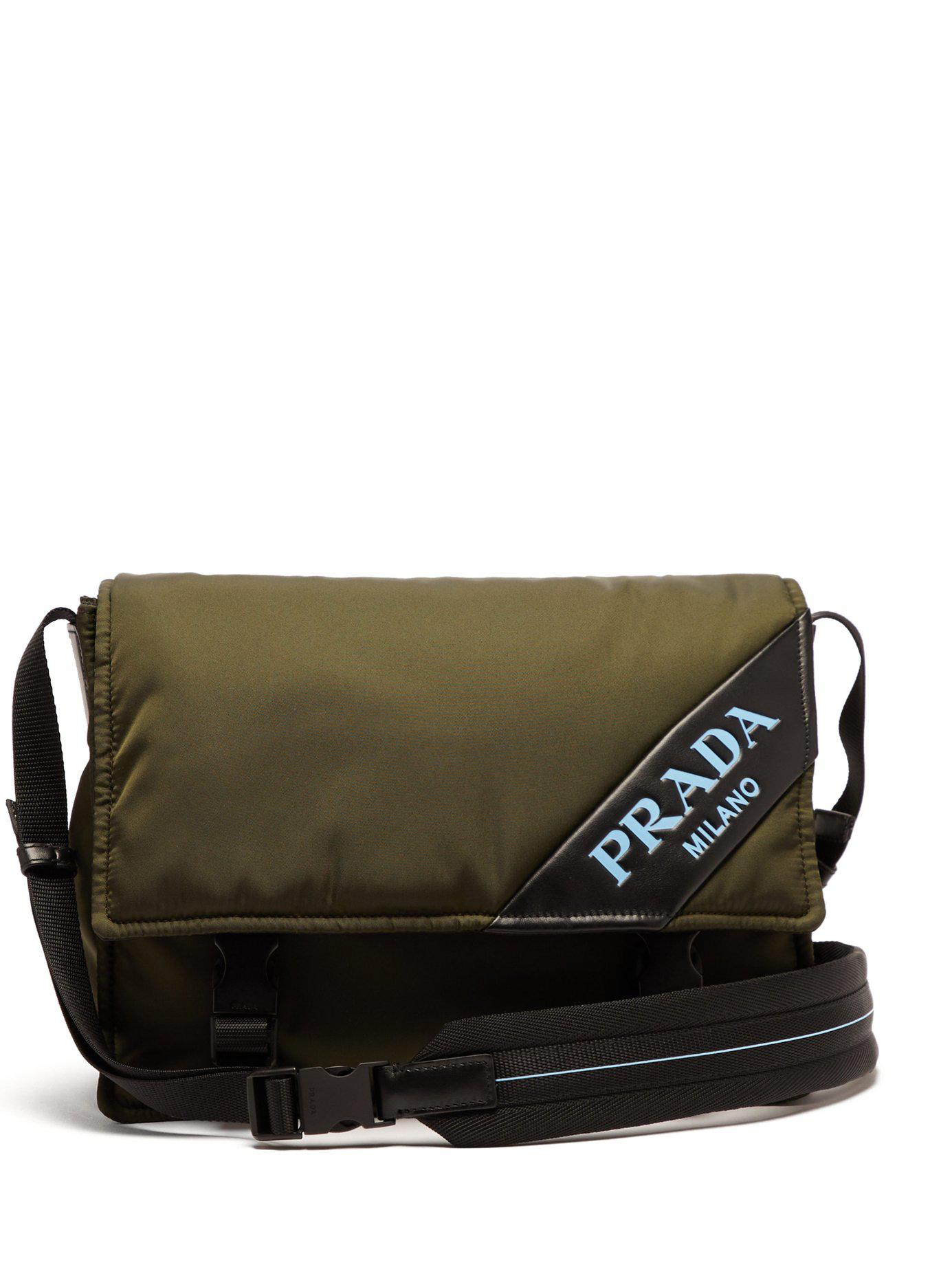 6075a36e11fc Prada - Multicolor Logo Nylon Messenger Bag - Lyst. View fullscreen