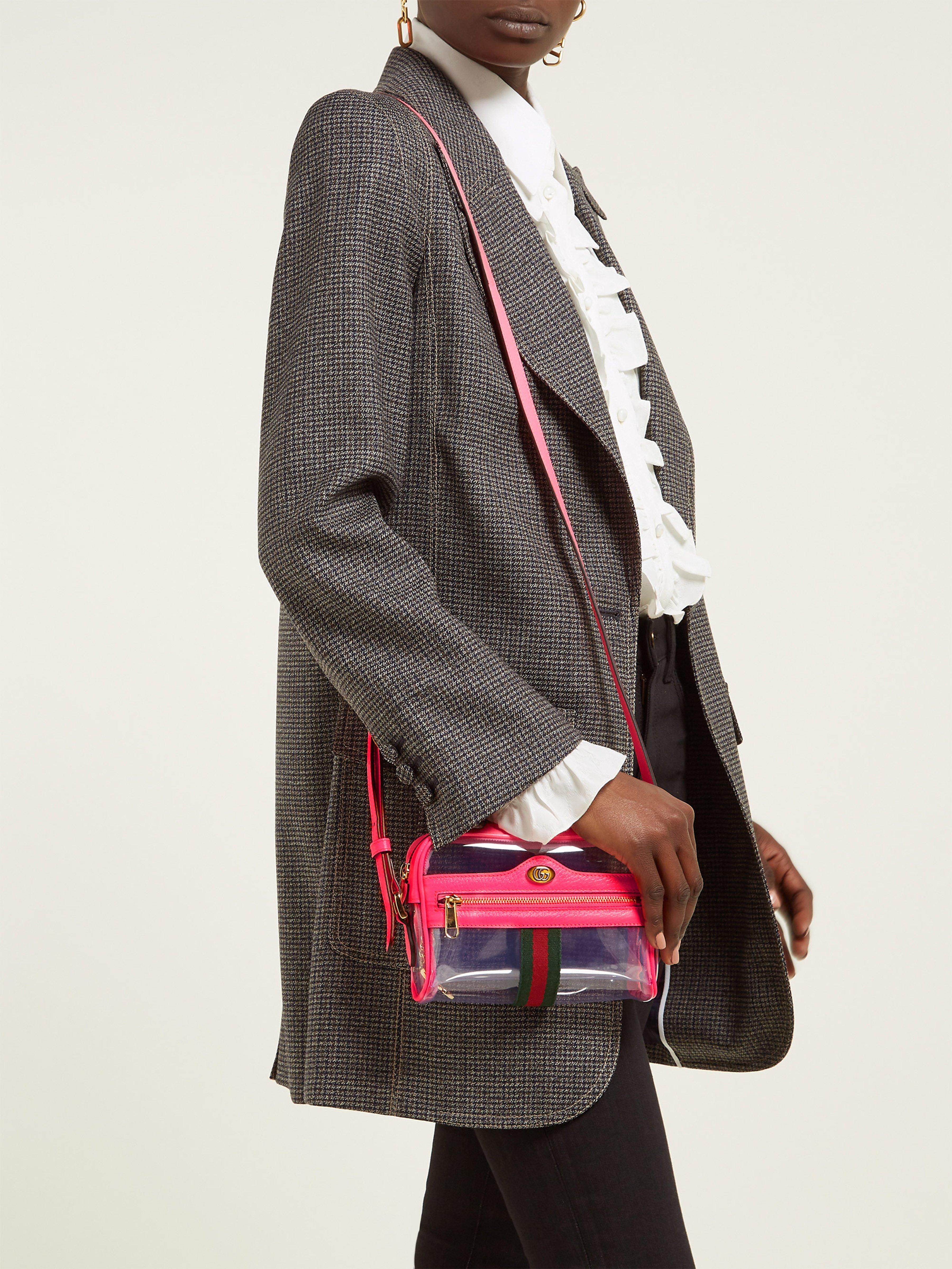 8345da152 Gucci Ophida Mini Cross Body Bag in Pink - Lyst