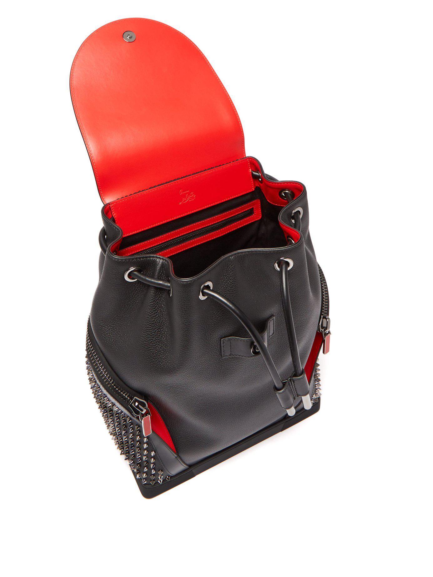 d4bb8738292 Men's Black Explorafunk Spike Embellished Backpack
