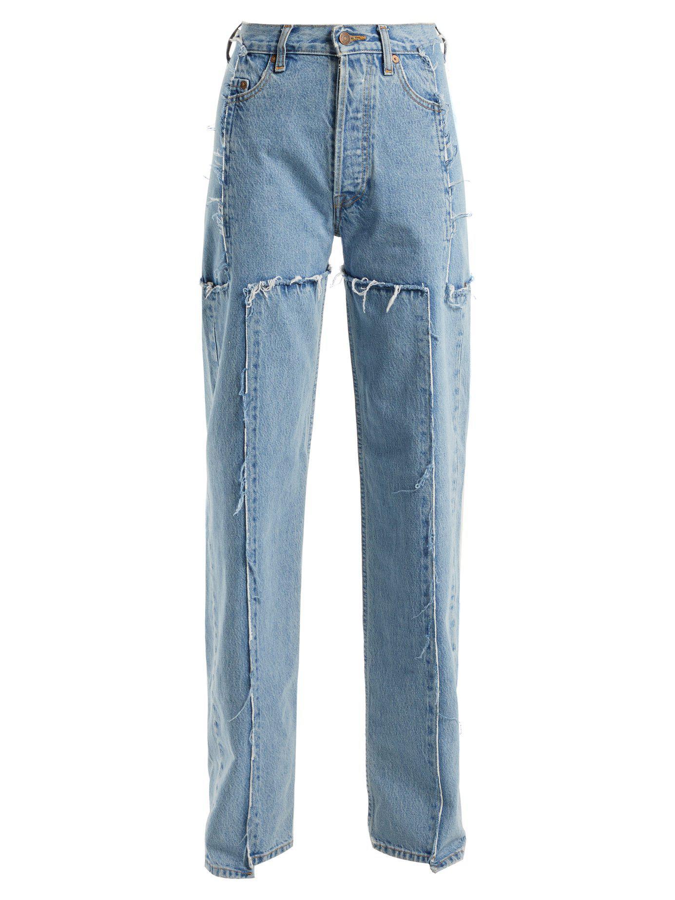 1e5e60c7f309 Lyst - Vetements High Rise Straight Leg Jeans in Blue