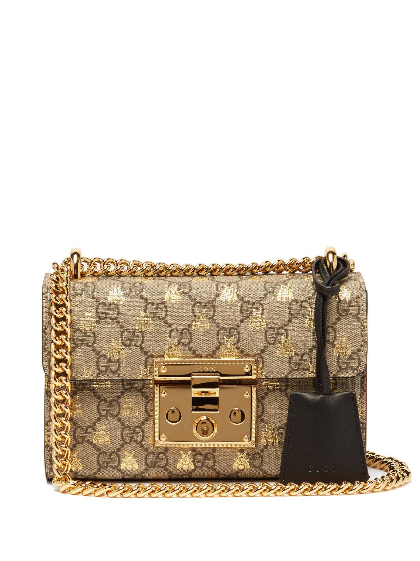 1068352e85ce Gucci Padlock Gg Supreme Small Cross Body Bag - Lyst