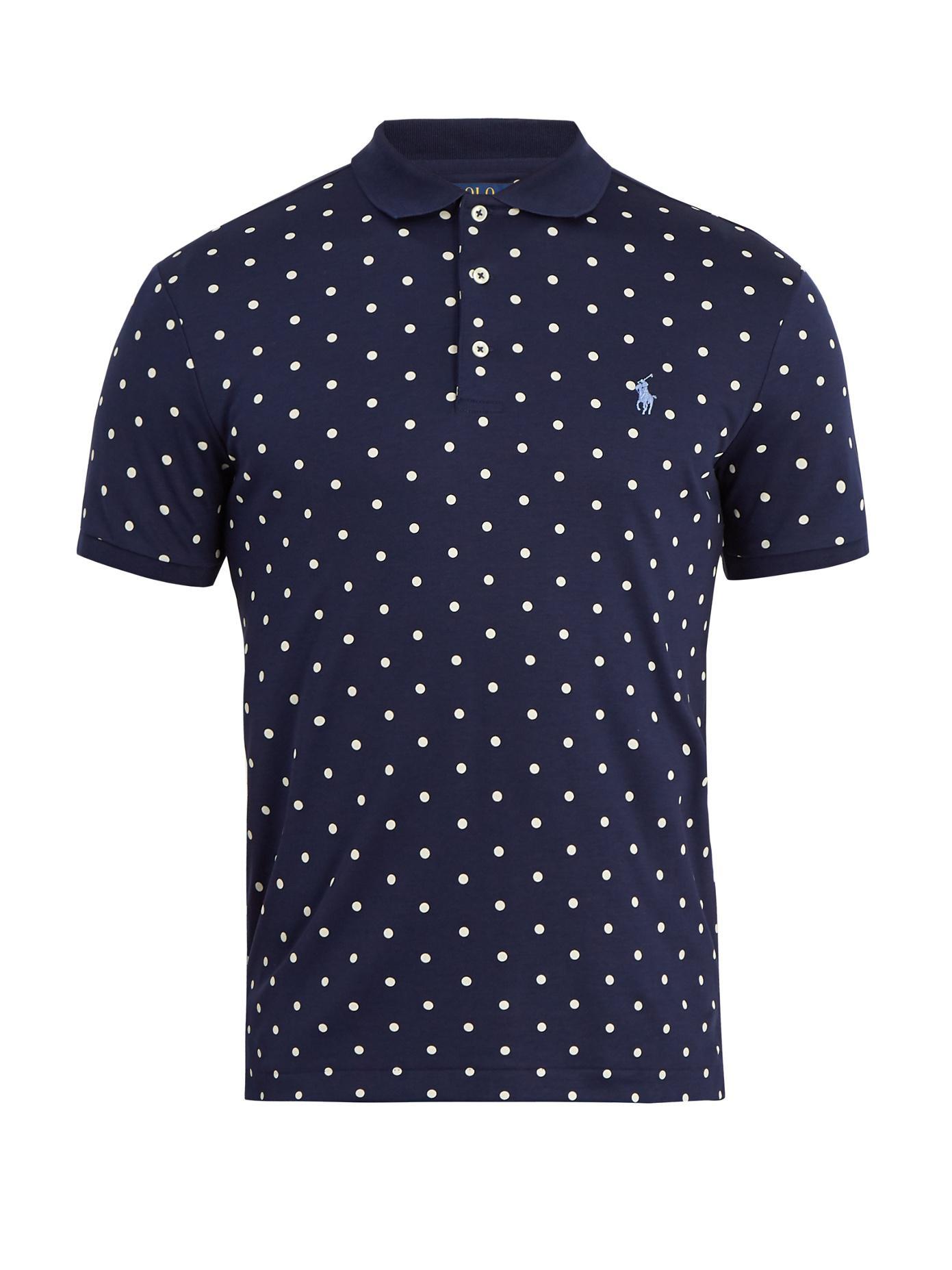 Polo Ralph Lauren Polka Dot Cotton Shirt Blue