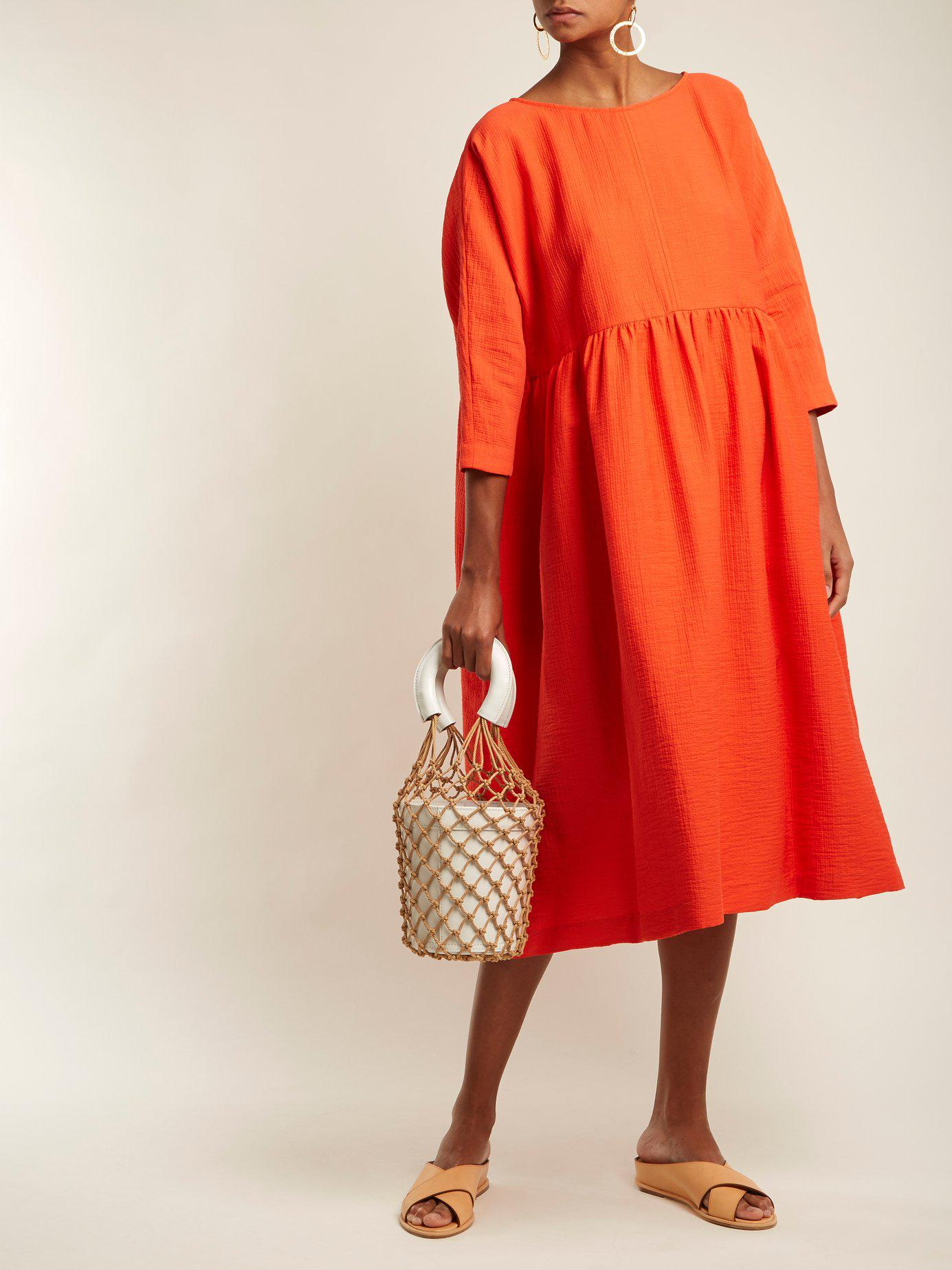 3223b032c39 Lyst - Rachel Comey Oust Cotton-blend Dress in Red
