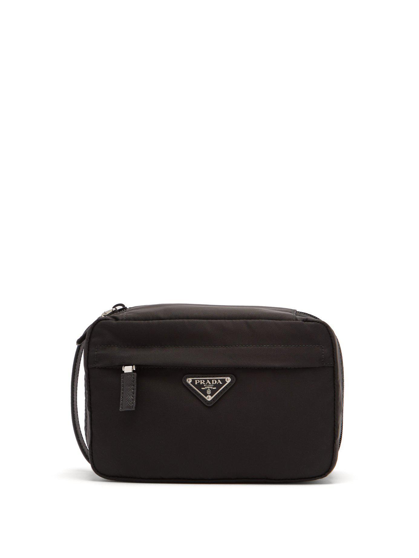 a389195e919 Prada - Black Nylon Wash Bag for Men - Lyst. View fullscreen