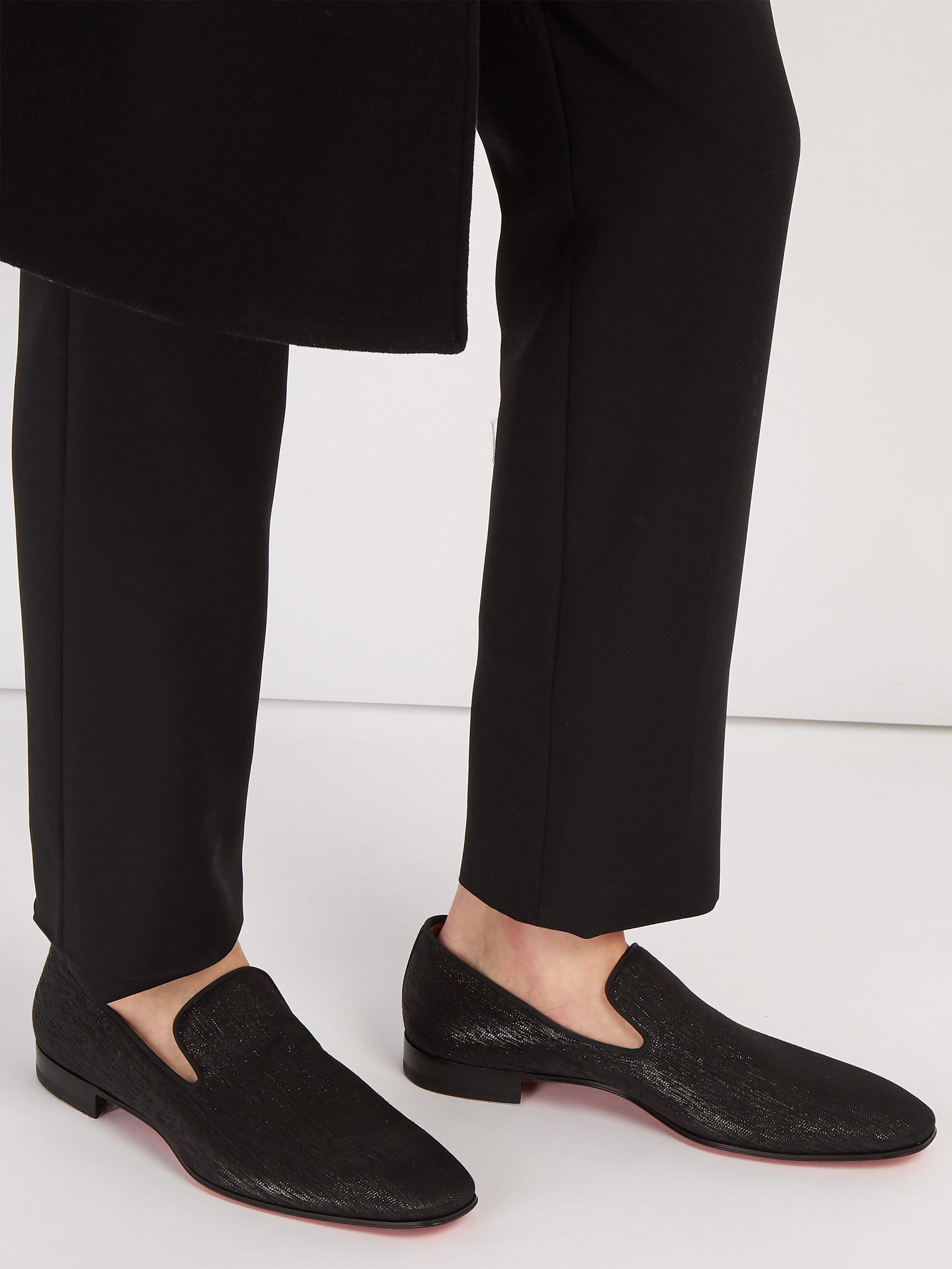 174394ee299 Christian Louboutin Dandelion Metallic Shantung Loafers in Black for Men -  Lyst