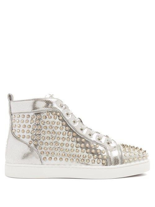 f5a34b6c2661 Christian Louboutin Louis Spike-embellished High-top Trainers in ...