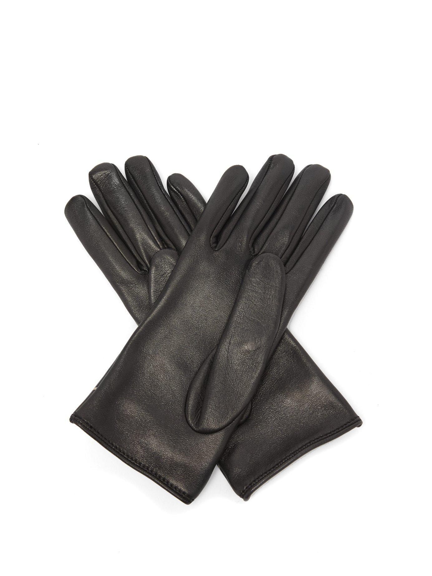3c734f26fed Lyst - Gucci Gg Marmont Chevron Quilted Leather Gloves in Black ...