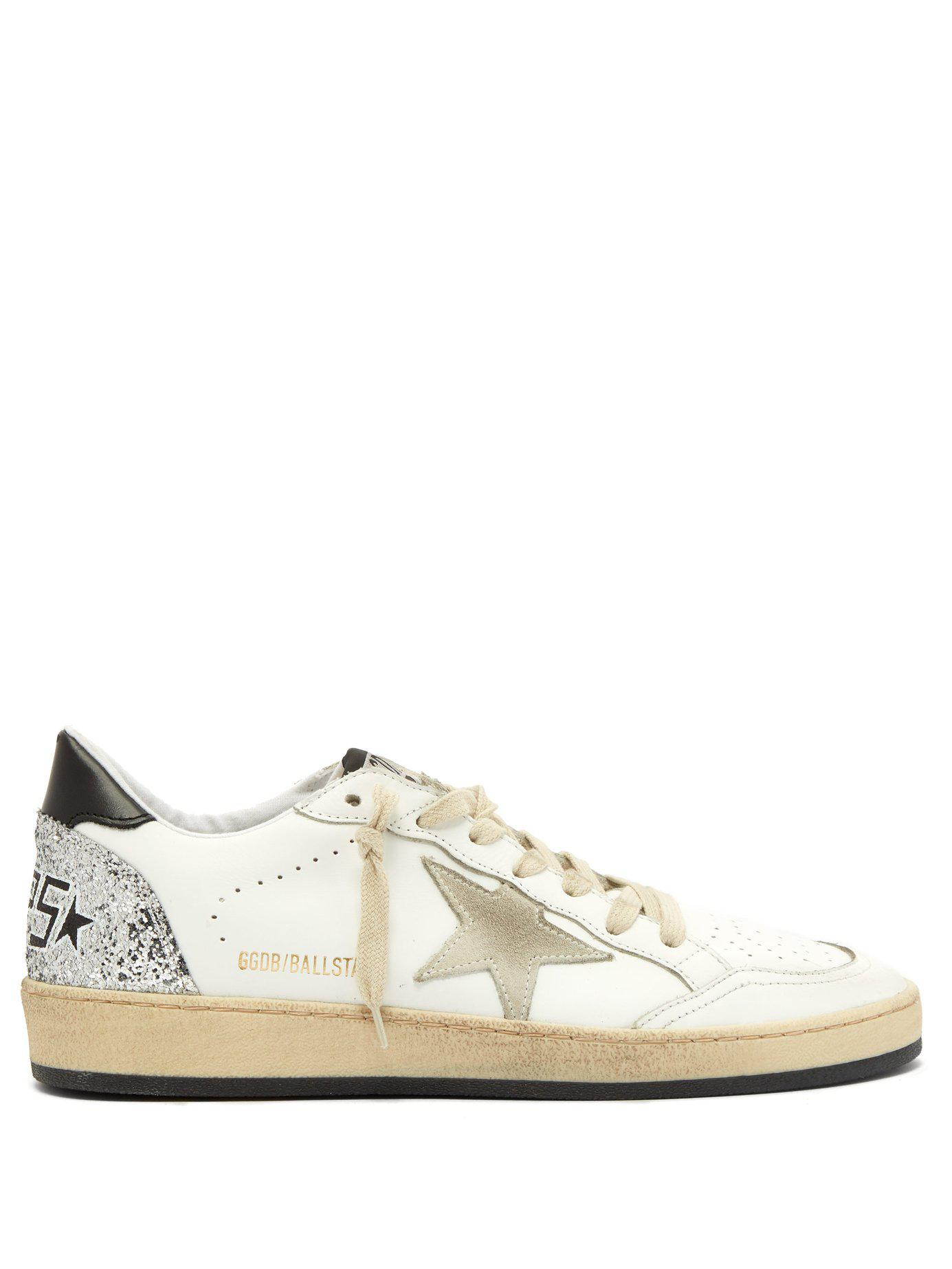 b858b452fae6a Lyst - Golden Goose Deluxe Brand Ballstar Low Top Leather Trainers ...