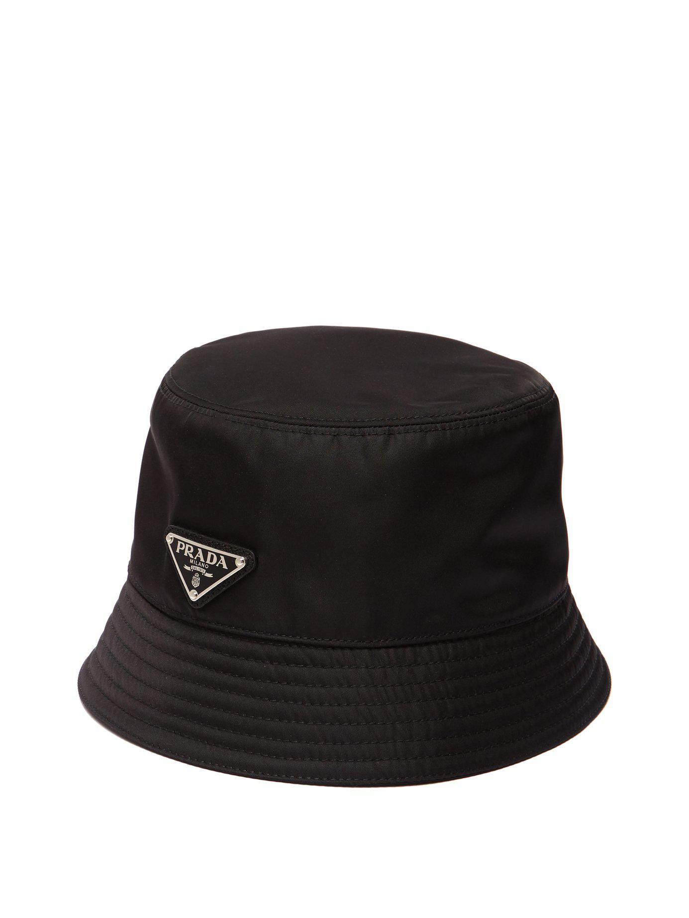 6735f76c Prada - Black Nylon Bucket Hat for Men - Lyst. View fullscreen