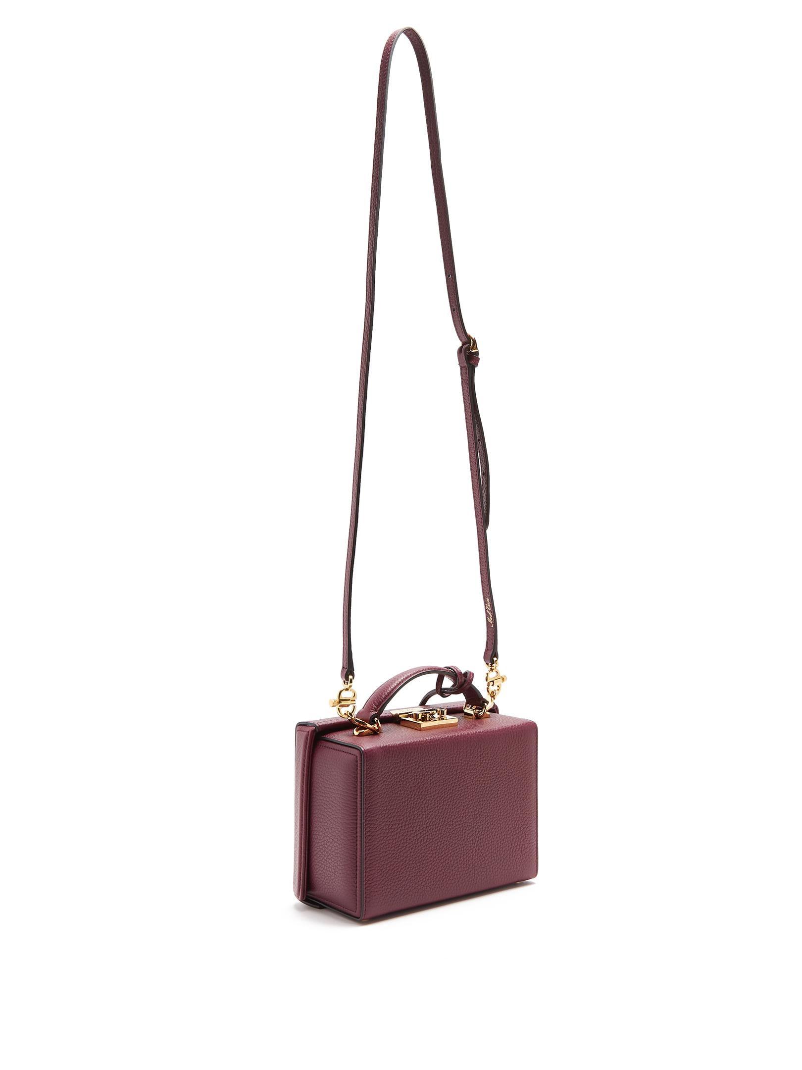 Mark Cross Leather Grace Small Grained-lather Shoulder Bag