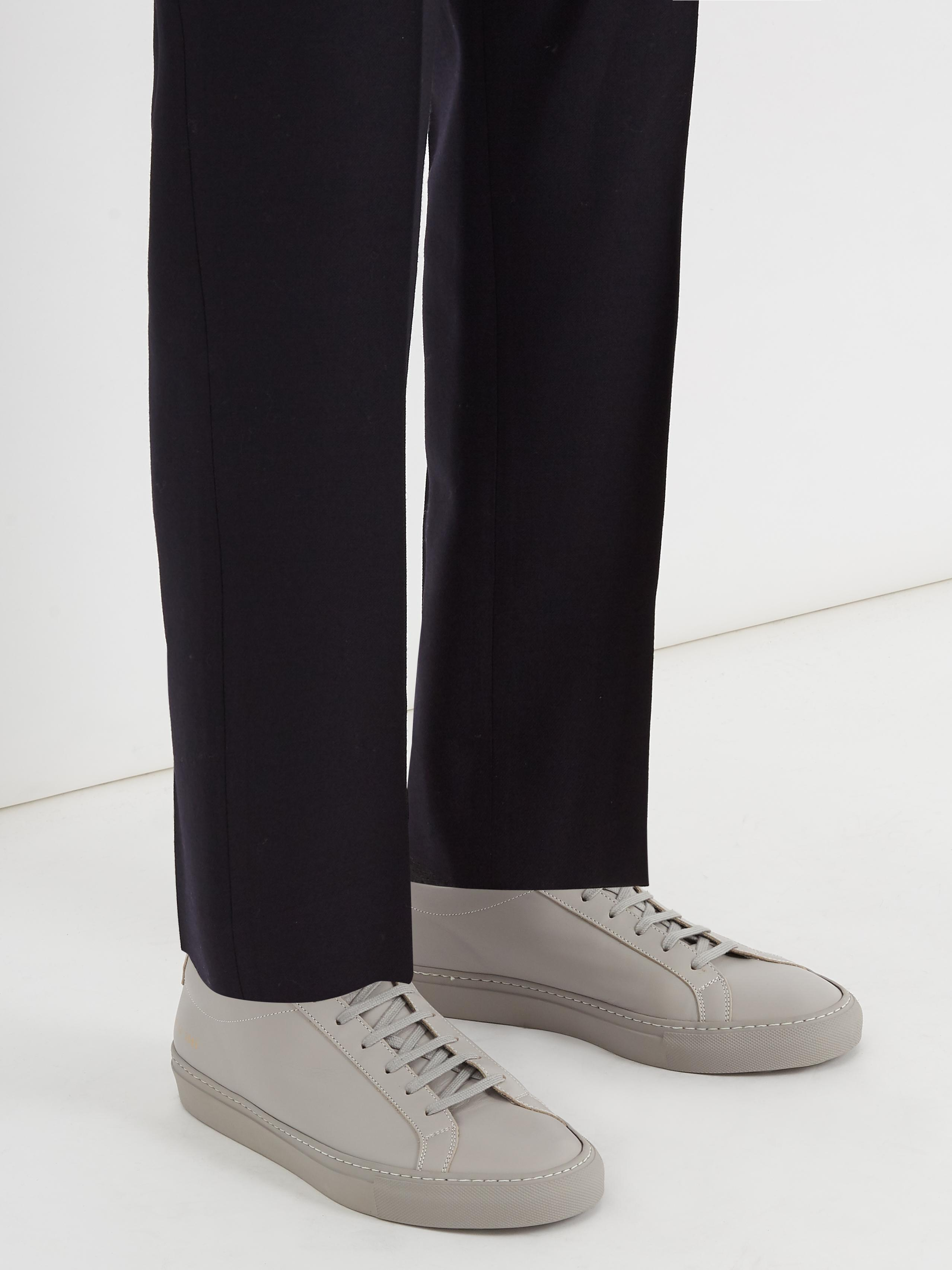 Common Projects Original Achilles Low-top Leather Trainers in Grey (Grey) for Men