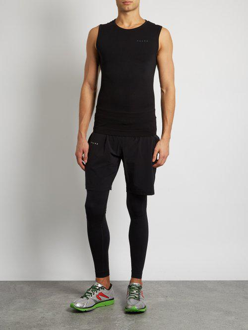 Falke Synthetic Seamless Compression Performance Tank Top in Black for Men