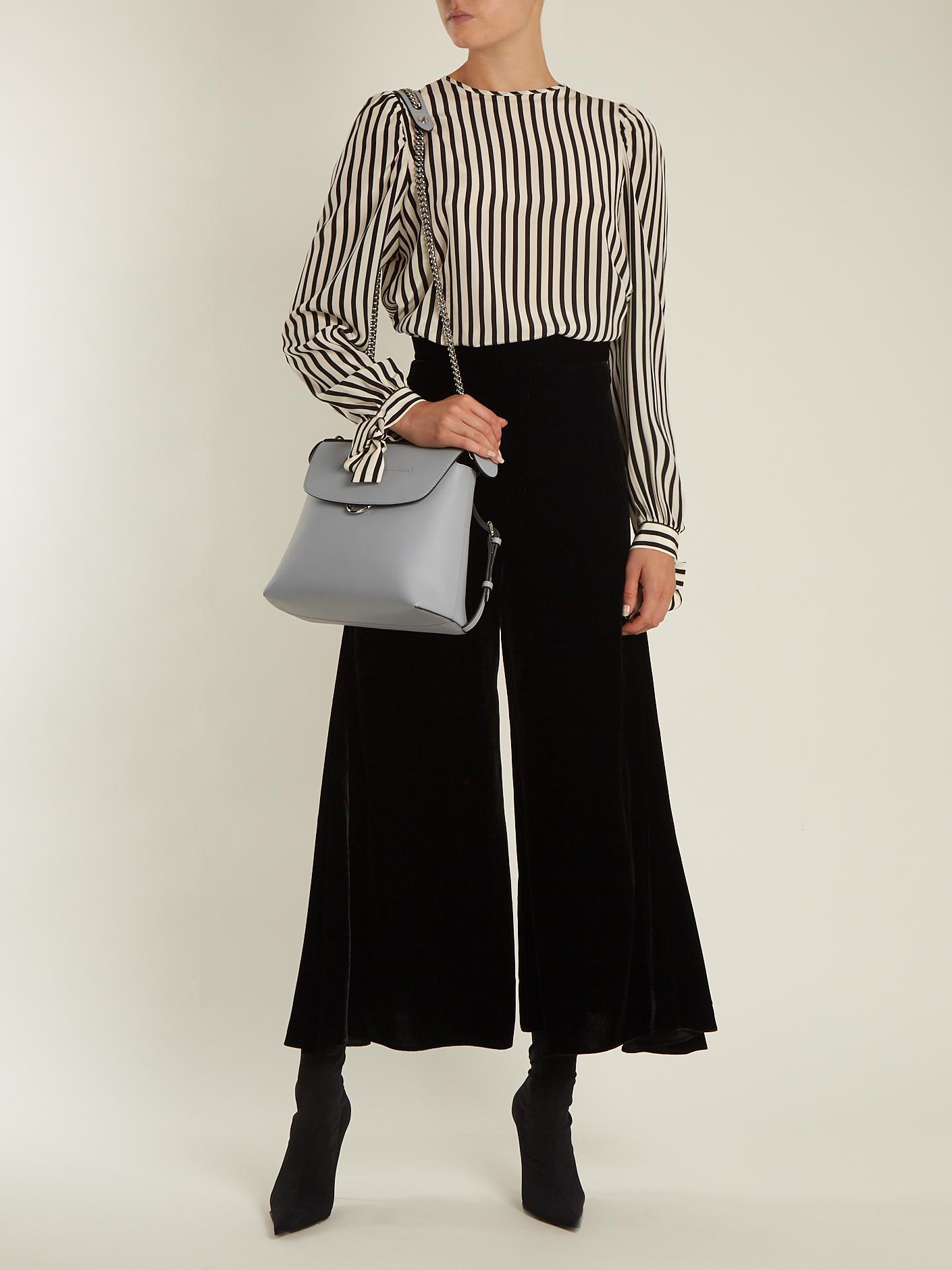 28770b55d9fd Fendi Back To School Mini Leather Backpack in Gray - Lyst