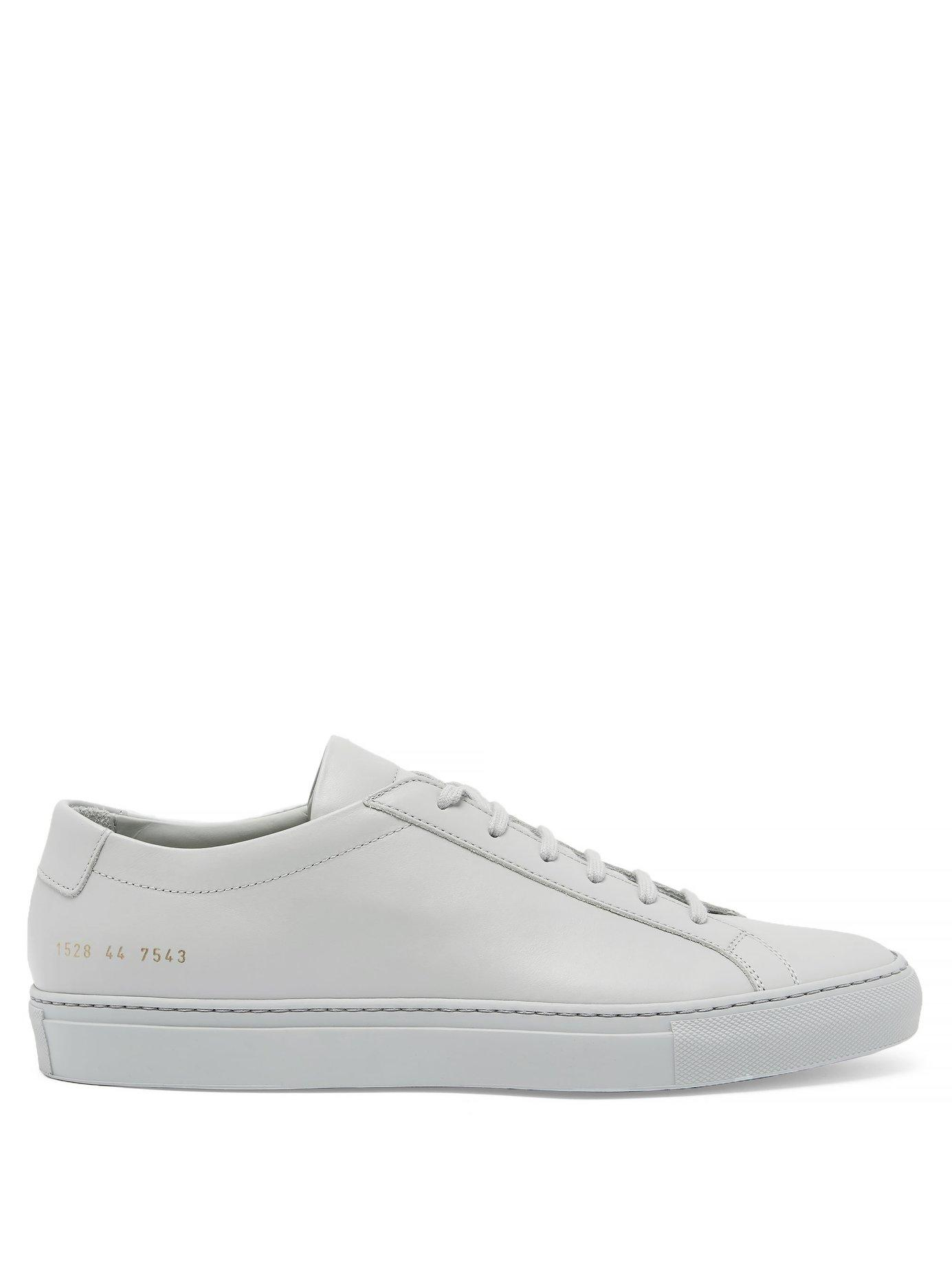 2a5728b937fbe Lyst - Common Projects Original Achilles Low-top Nubuck Sneakers in ...
