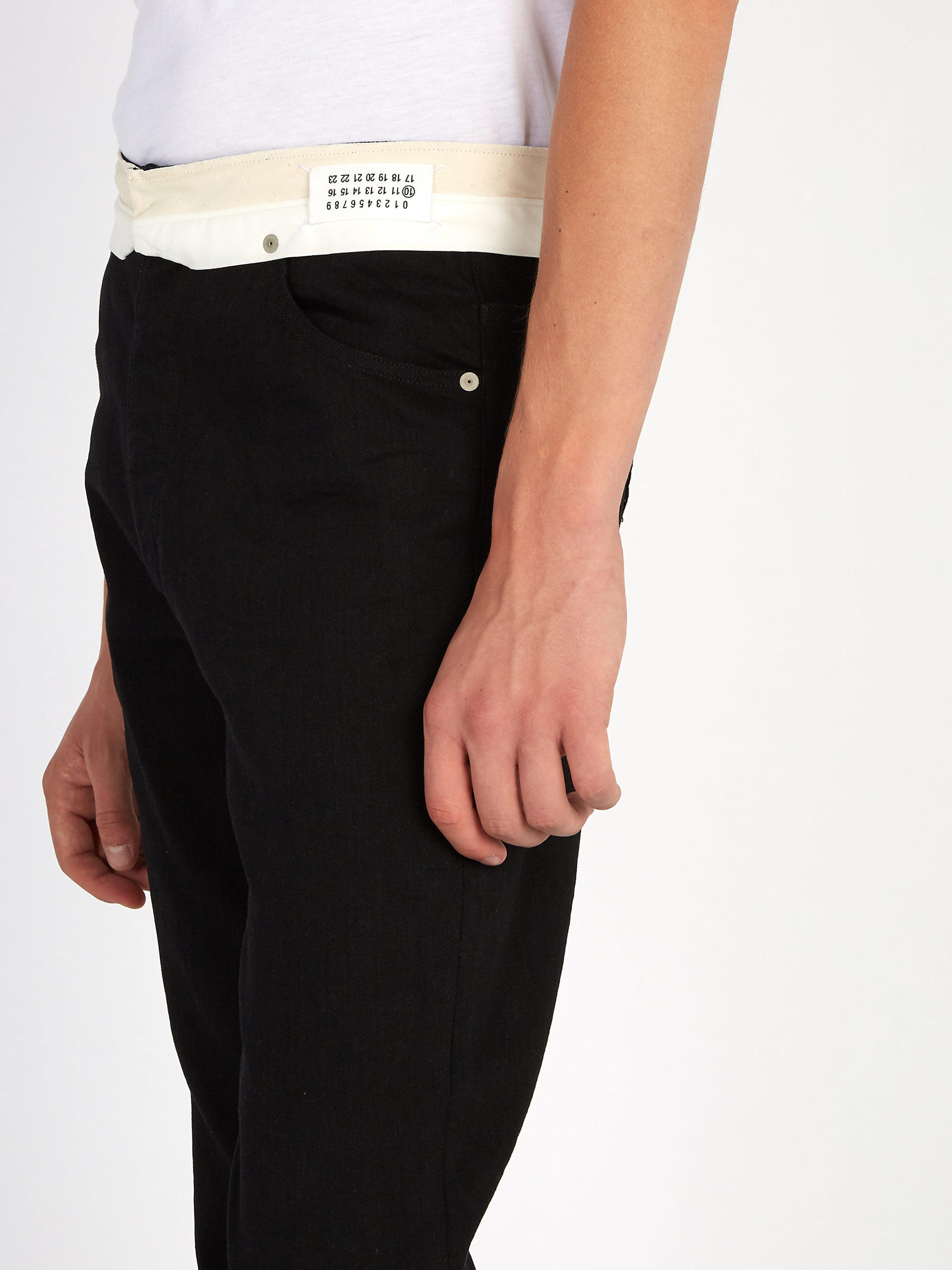 Maison Margiela Denim Deconstructed Straight Leg Jeans in Black for Men