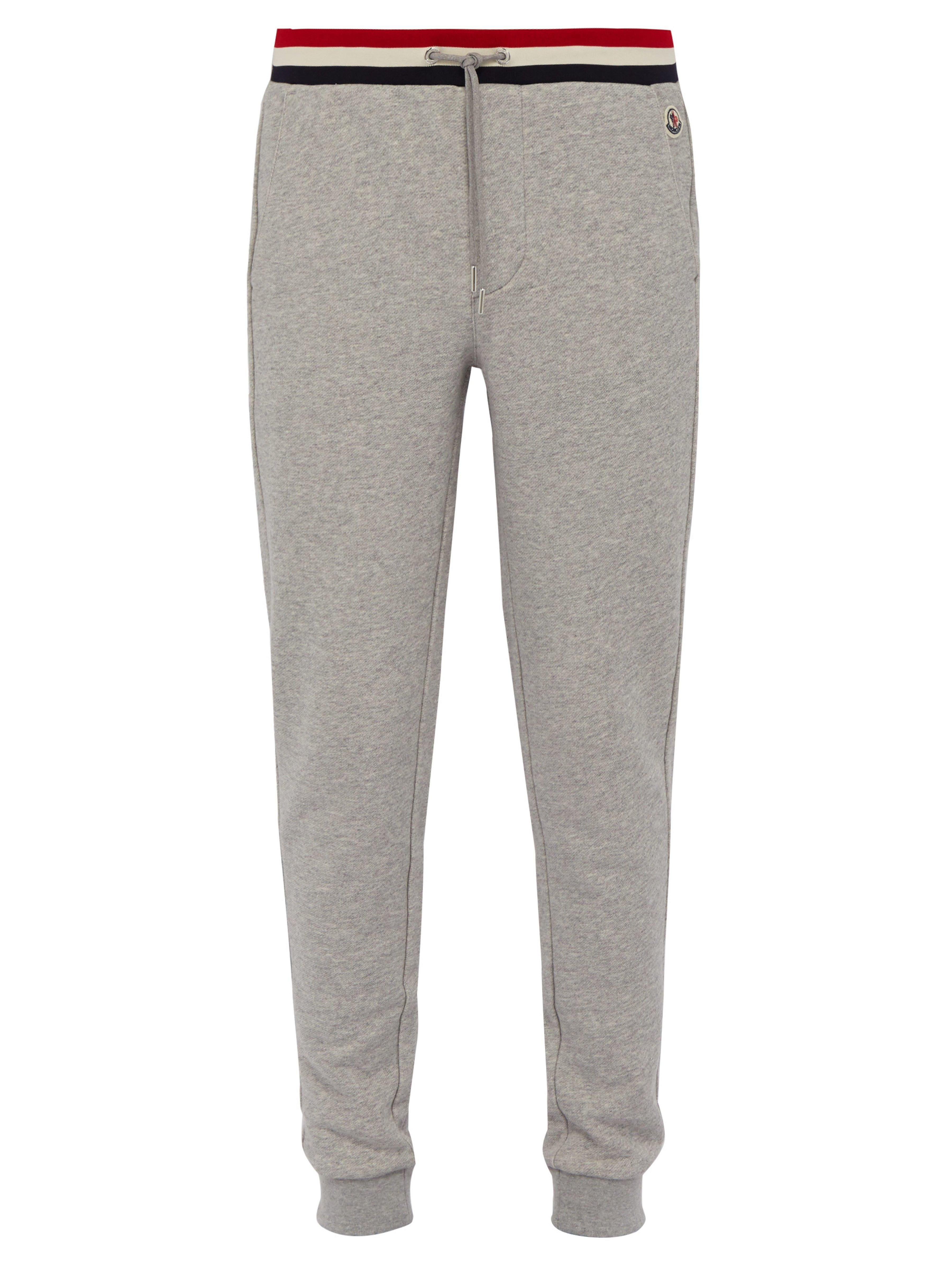 a51e8aa5a Moncler Slim Leg Loopback Cotton Track Pants in Gray for Men - Lyst