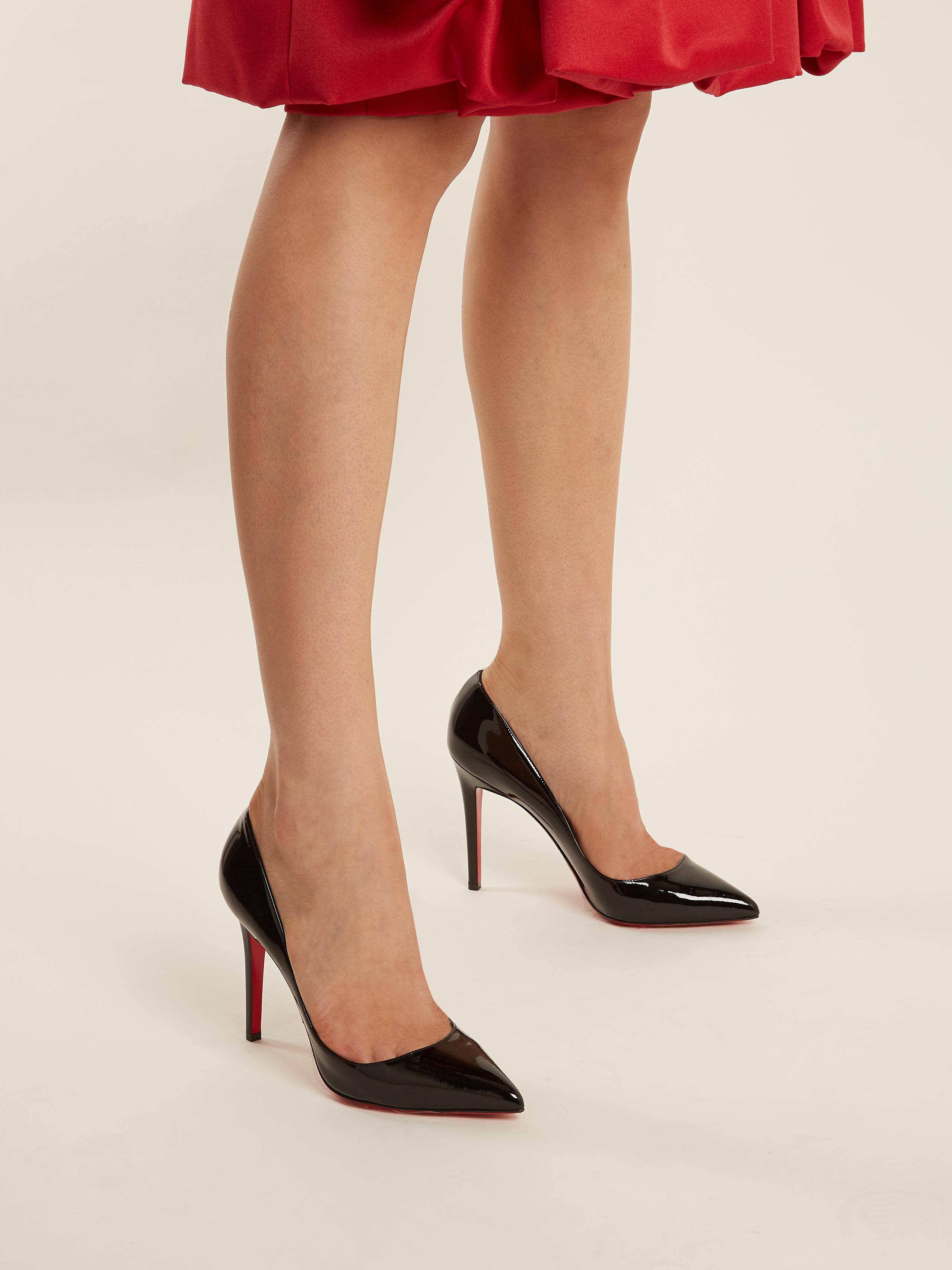 best loved a1f63 eeda3 Christian Louboutin Pigalle 100mm Patent-leather Pumps in ...