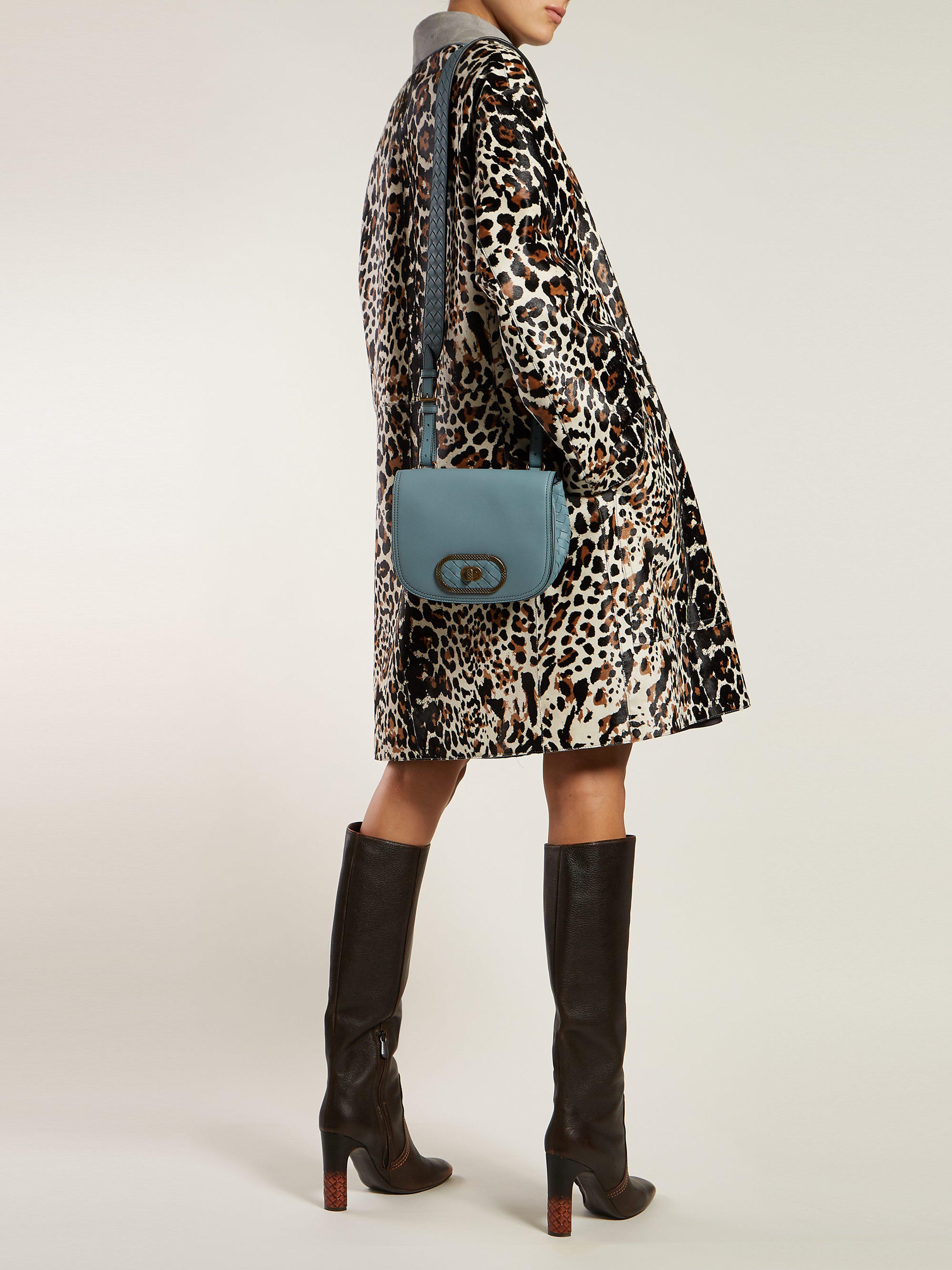 1168bddf1cfb Bottega Veneta - Blue Bv Luna Leather Cross Body Bag - Lyst. View fullscreen
