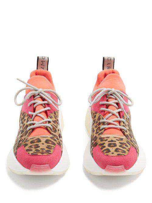 Stella McCartney Synthetic Eclypse Animal Sneaker in Pink