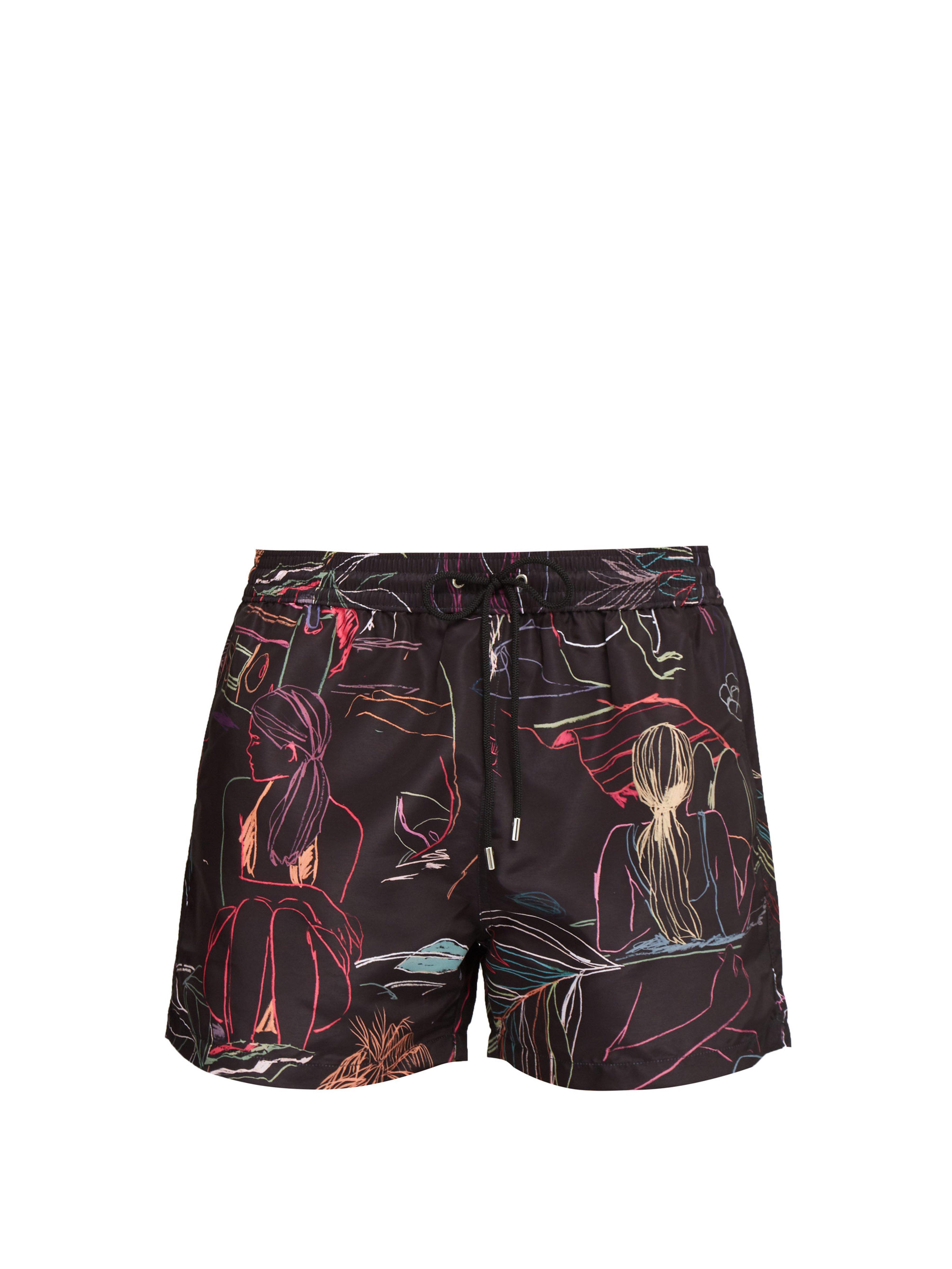767d7688de Paul Smith Sunbathers Print Swim Shorts in Black for Men - Lyst