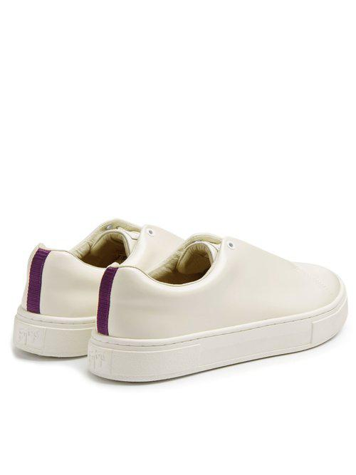 Eytys Leather Doja Slip-on Faile Trainers in White
