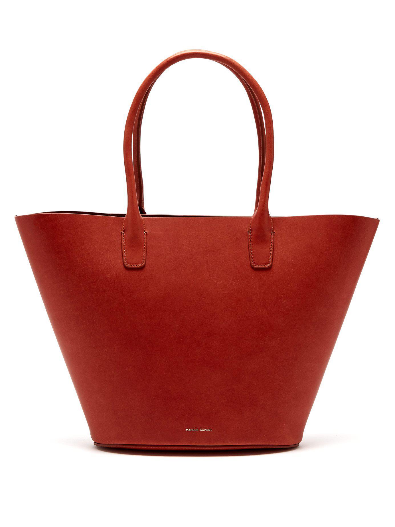 Mansur Gavriel - Orange Triangle Leather Tote - Lyst. View fullscreen 7e79ca38c411c