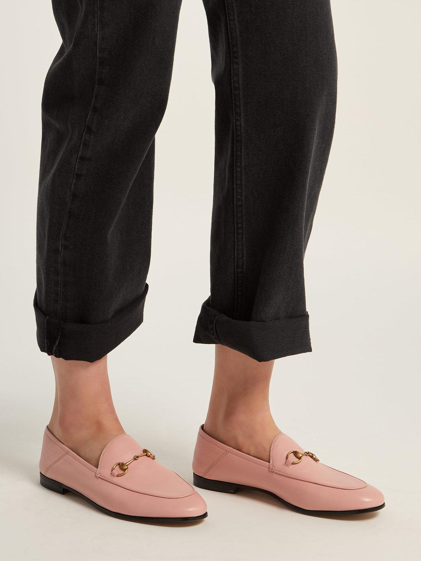 f7e1944f9ed Gucci - Pink Leather Horsebit Loafer - Lyst. View fullscreen