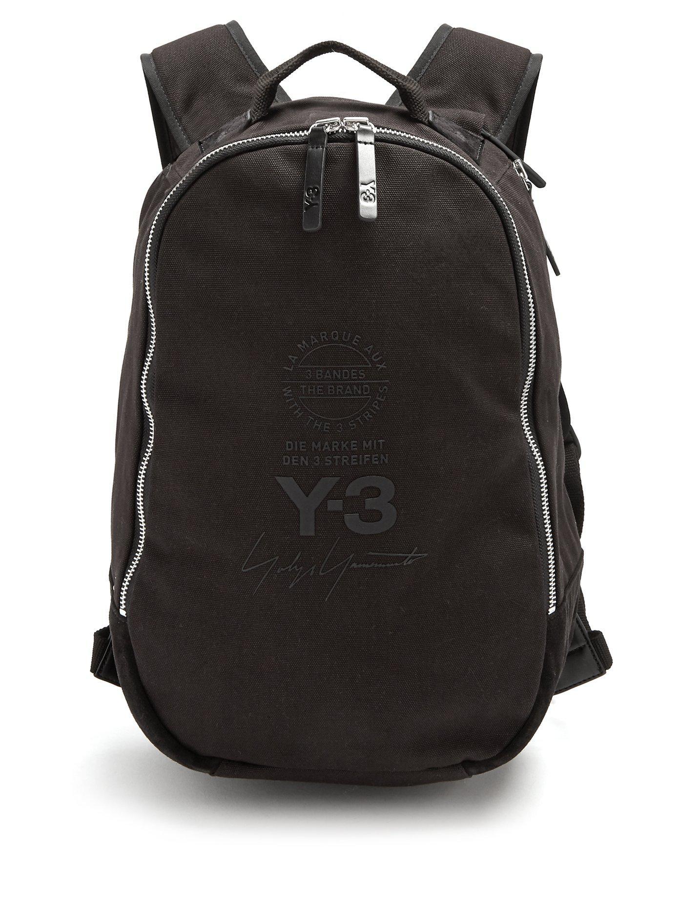 Lyst - Sac à dos en toile Y-3 pour homme en coloris Noir bf0b3c76e457b