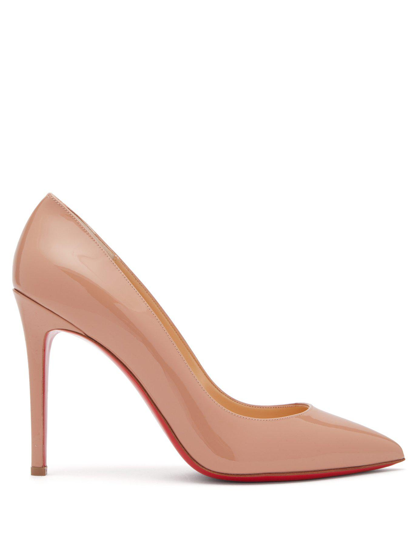 322ac52bf28c Lyst - Christian Louboutin Pigalle 100 Patent Leather Pumps in ...