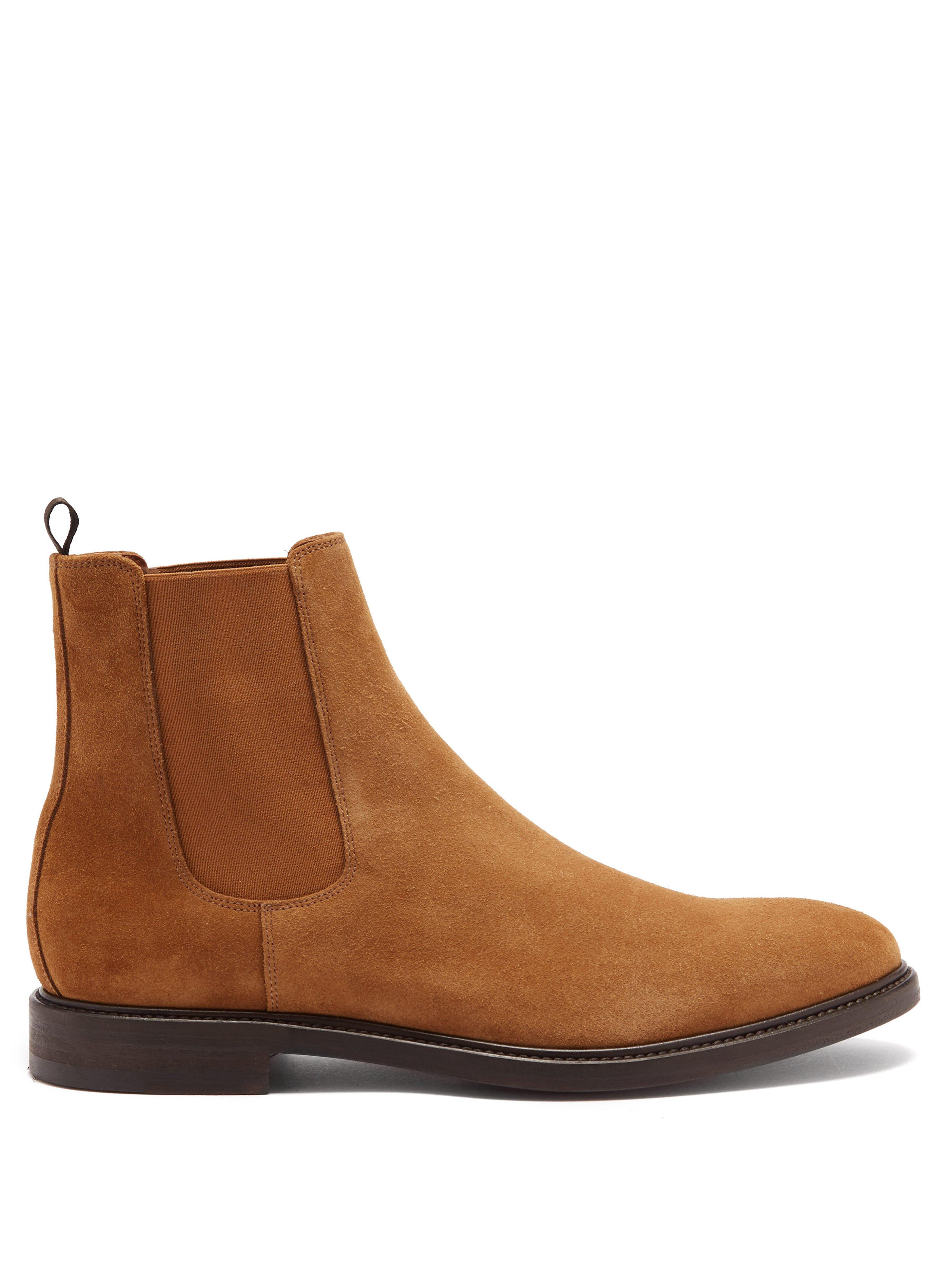 cc42da13920 Paul Smith Jake Suede Chelsea Boots in Brown for Men - Lyst