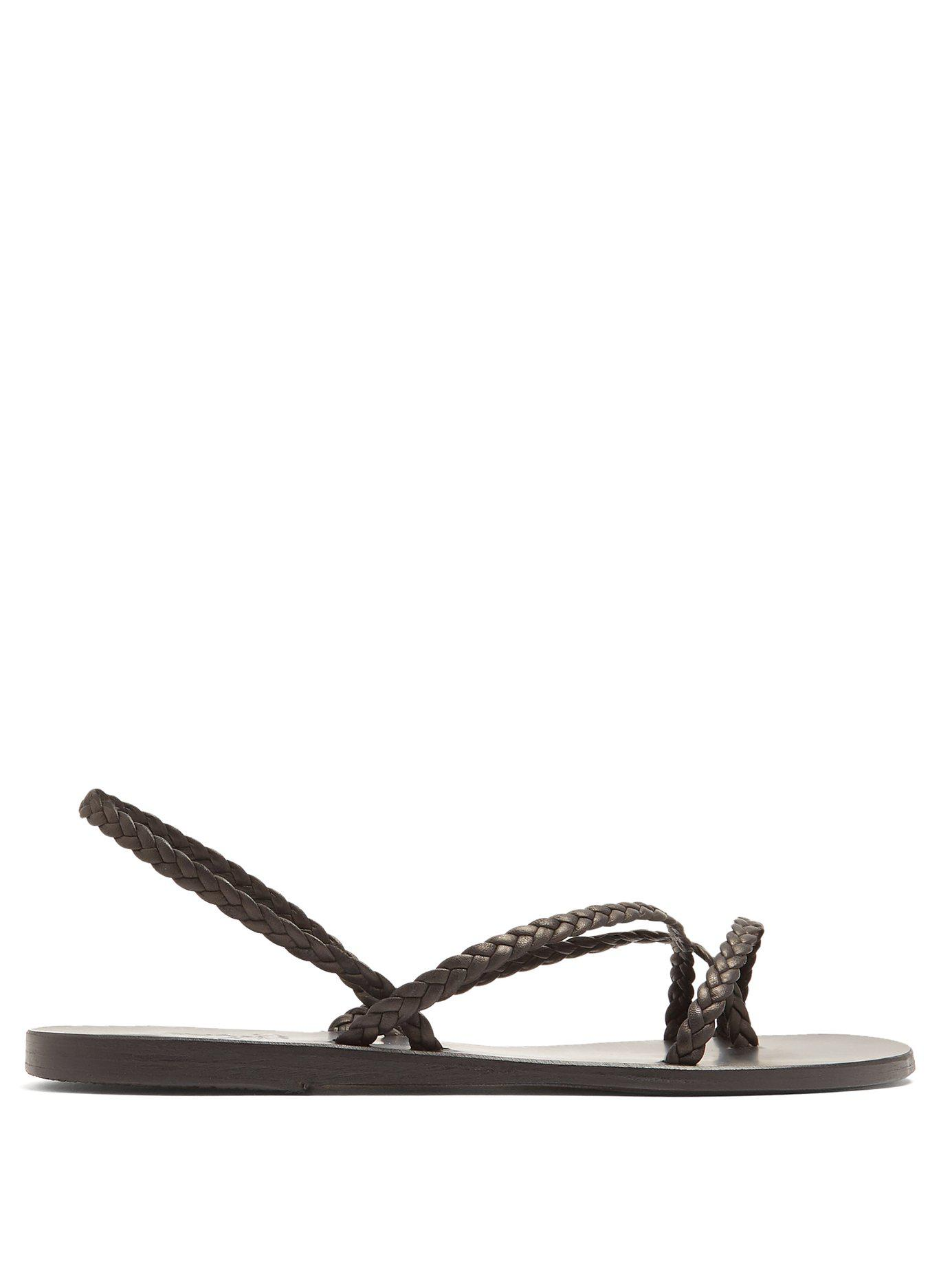 318e2dd82a8bac Lyst - Ancient Greek Sandals Yianna Braided-leather Sandals in Black