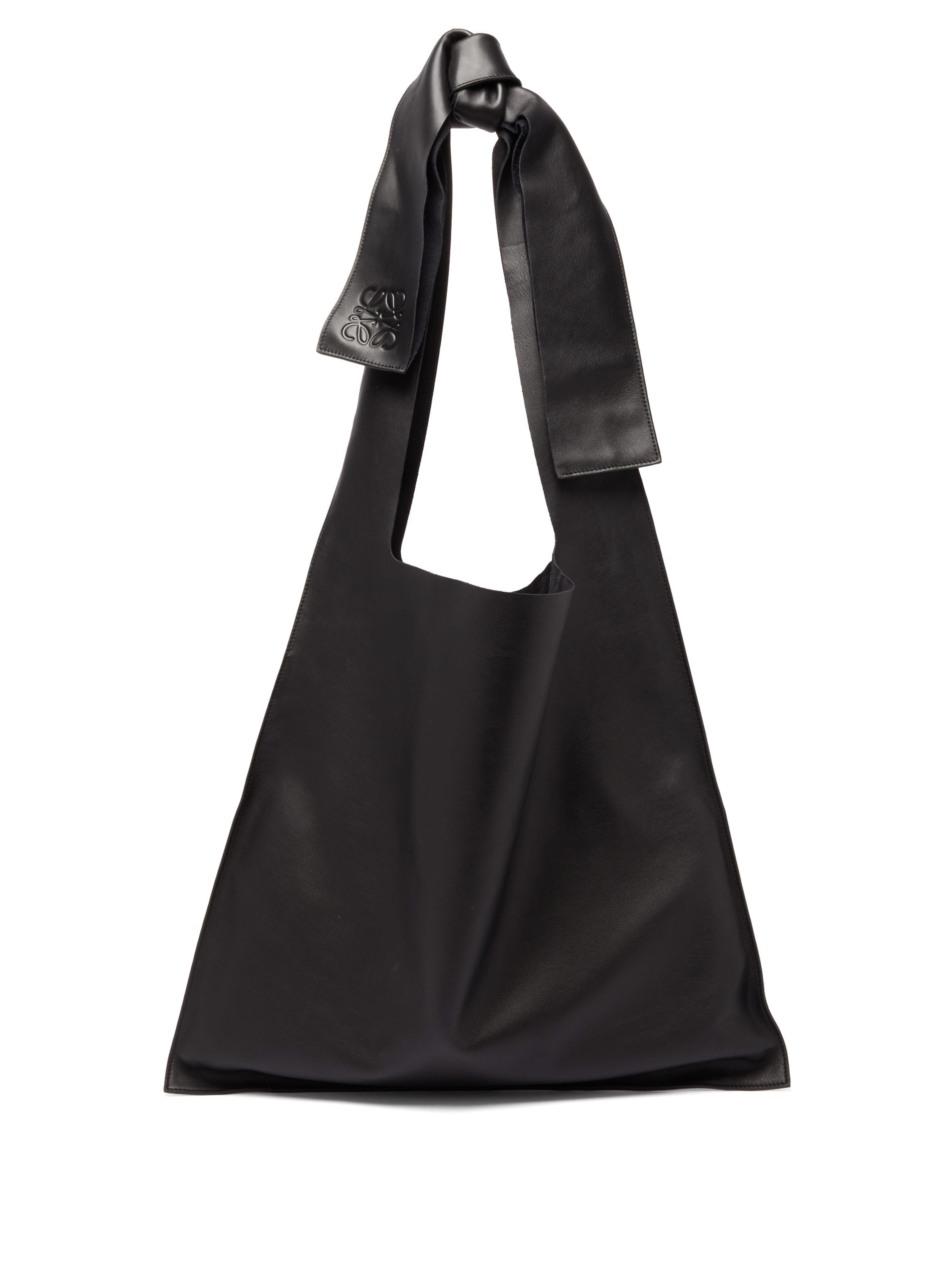 Bow Oversized Leather Shoulder Bag