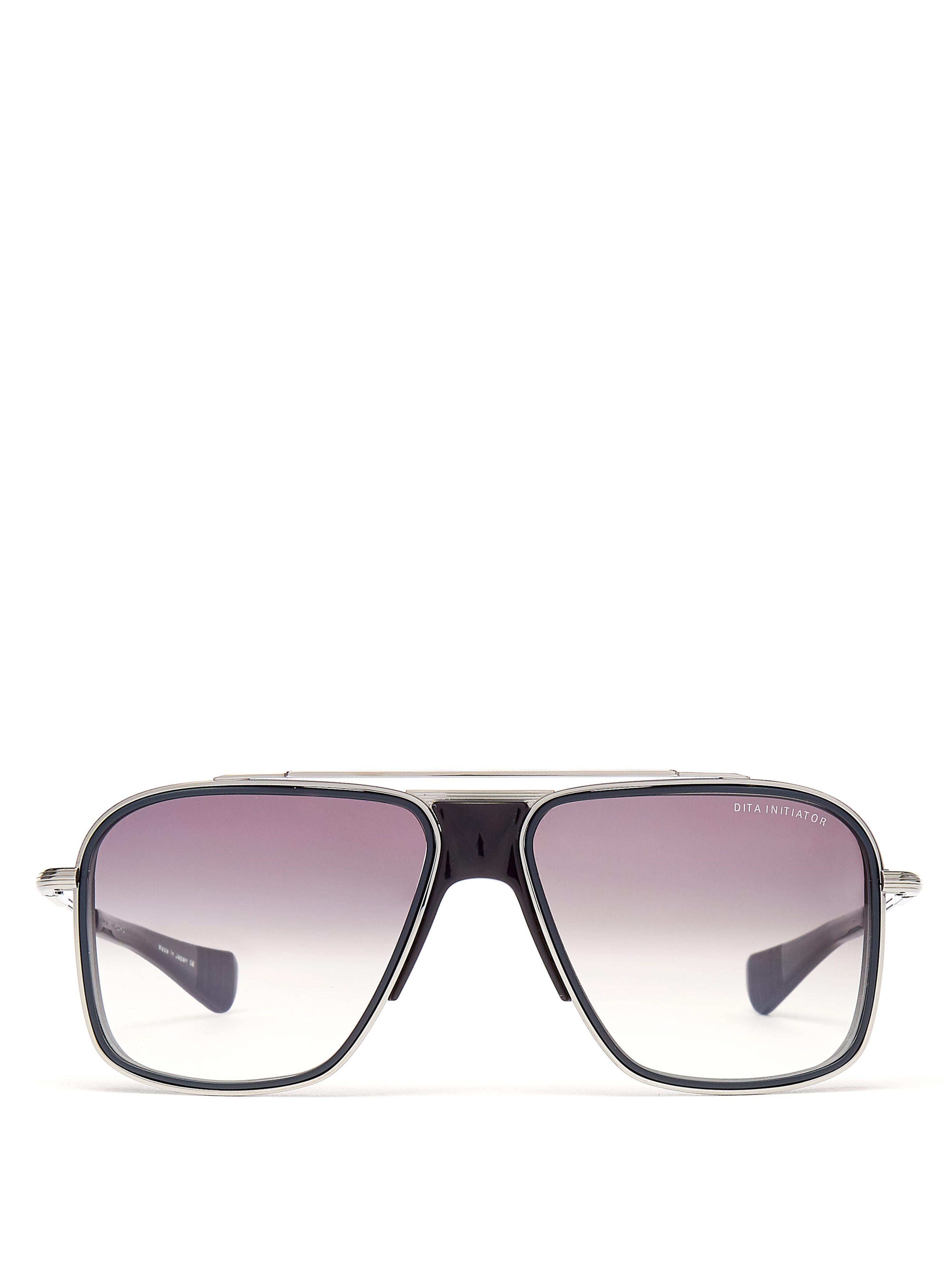 Lyst - Lunettes de soleil aviateur en titane Initiator Dita Eyewear ... e6b9a7e6b1aa