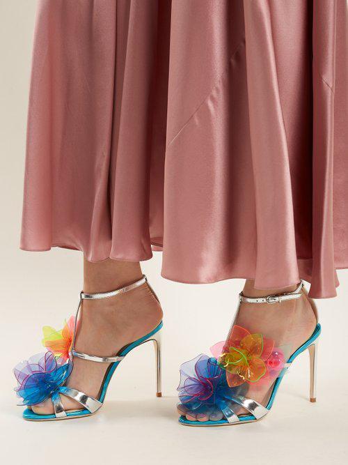 e9f78f8db04 Lyst - Sophia Webster Jumbo Lilico Leather Sandals