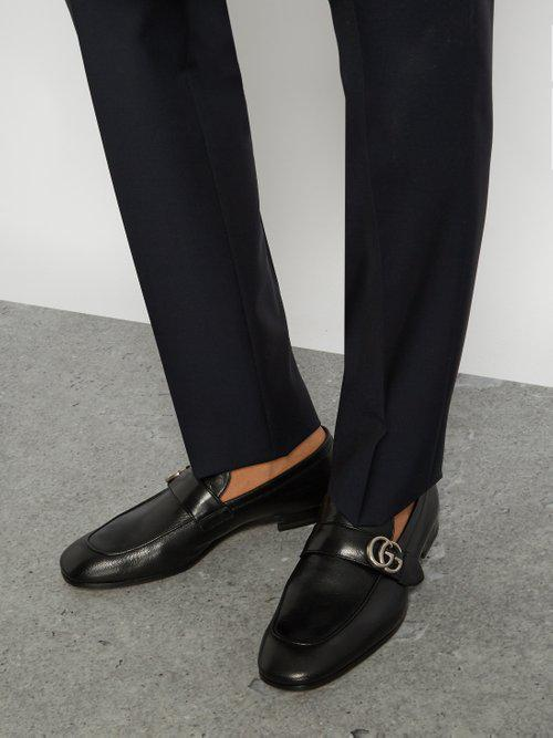 bed4786667b06 Gucci Donnie GG Leather Loafers in Black for Men - Lyst