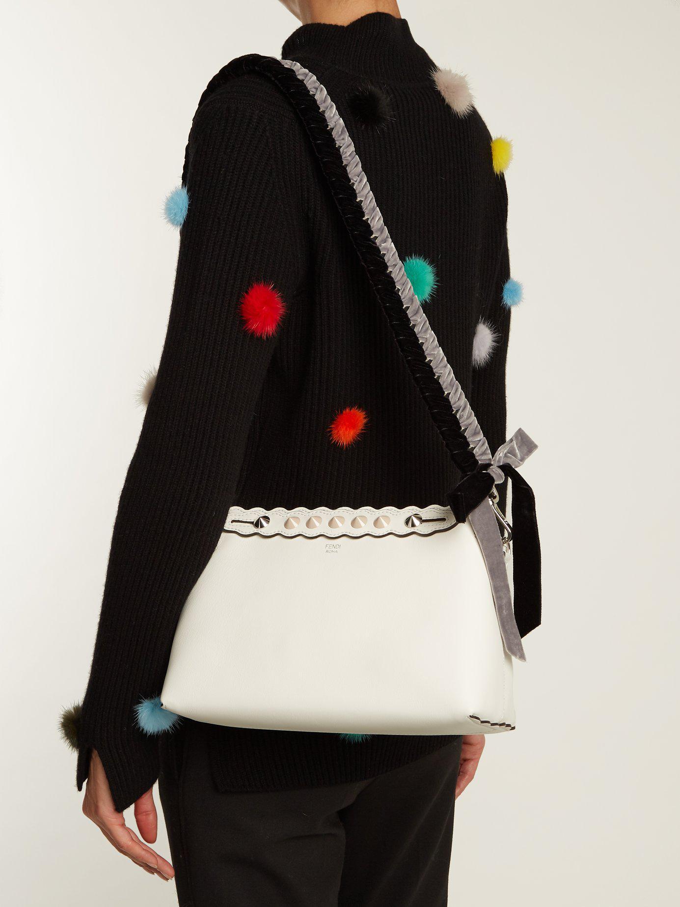e826c1f1c95b Lyst - Fendi Strap You Whipstitched Ribbon Bag Strap in Black - Save 77%